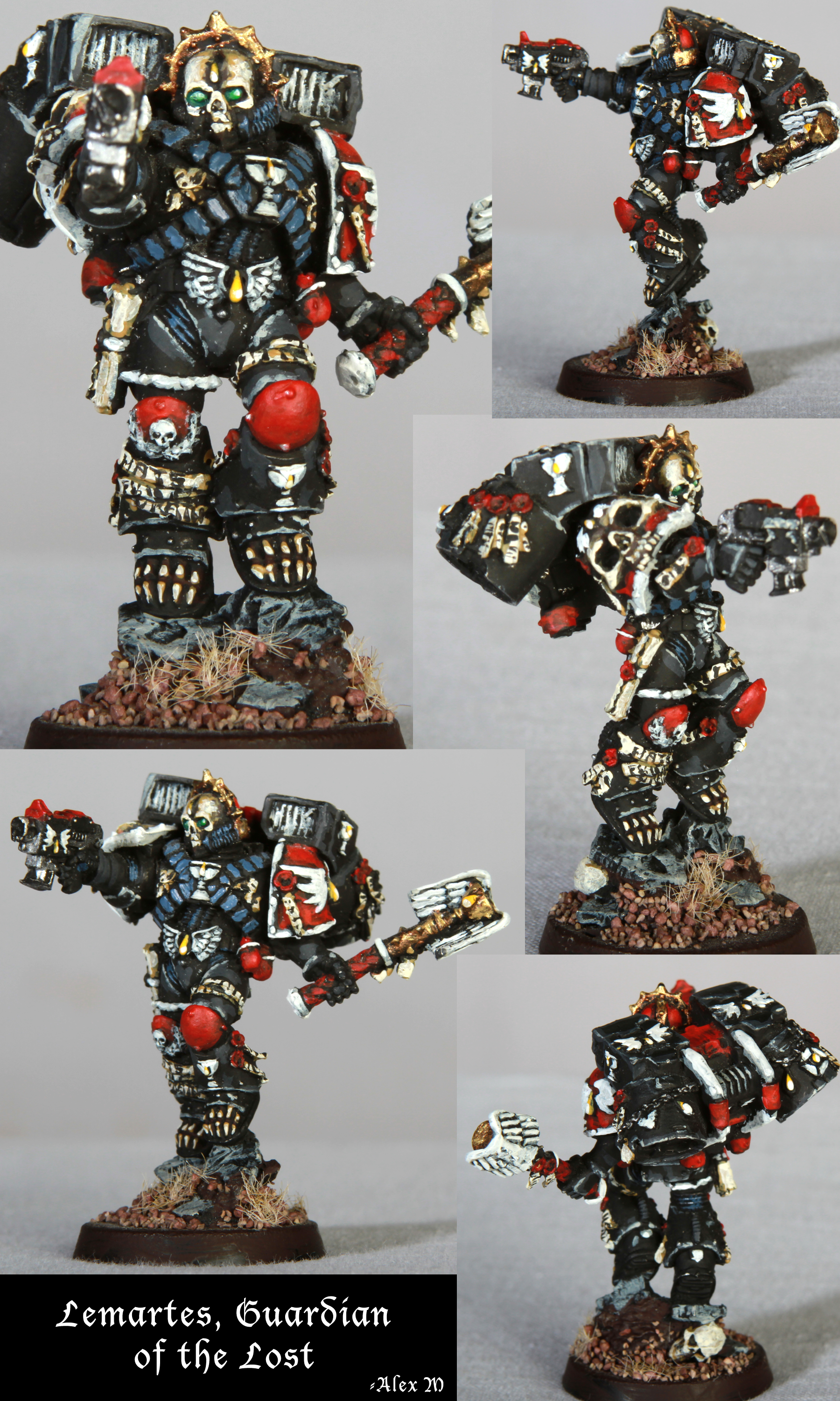 Blood Angels, Chaplain, Independent Character, Jetpack, Lemartes, Space Marines