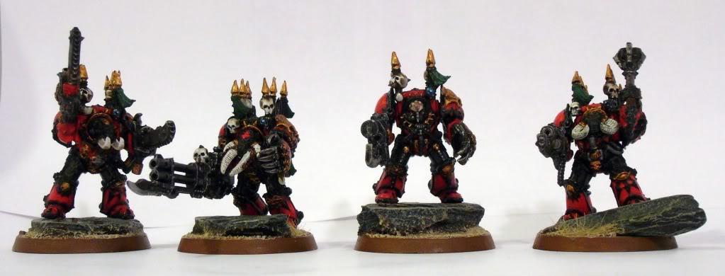 Chaos Space Marines, Red Corsairs, Terminator Armor, Warhammer 40,000