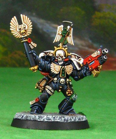 Bolter, Chaplain, Crozius Arcanum, Dark Angels, Skull, Space Marines, Warhammer 40,000