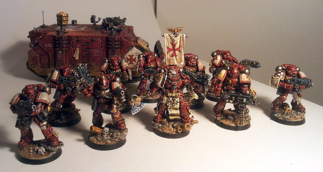 Crimson Templars, Space Marines, Templars, True Scale