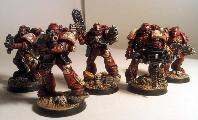 Crimson Templars, Space Marines, Templars, True Scale