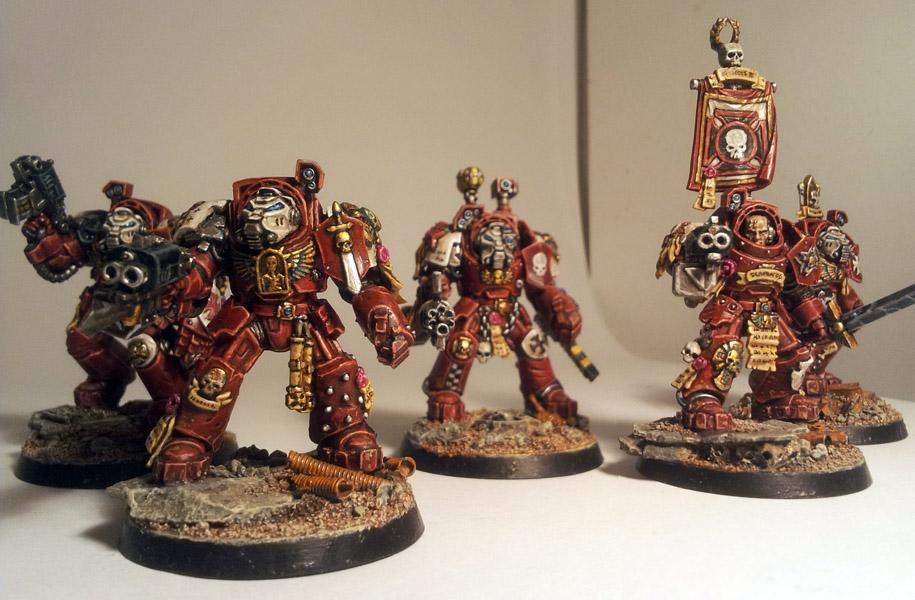 Red, Space Marines, Templars, White