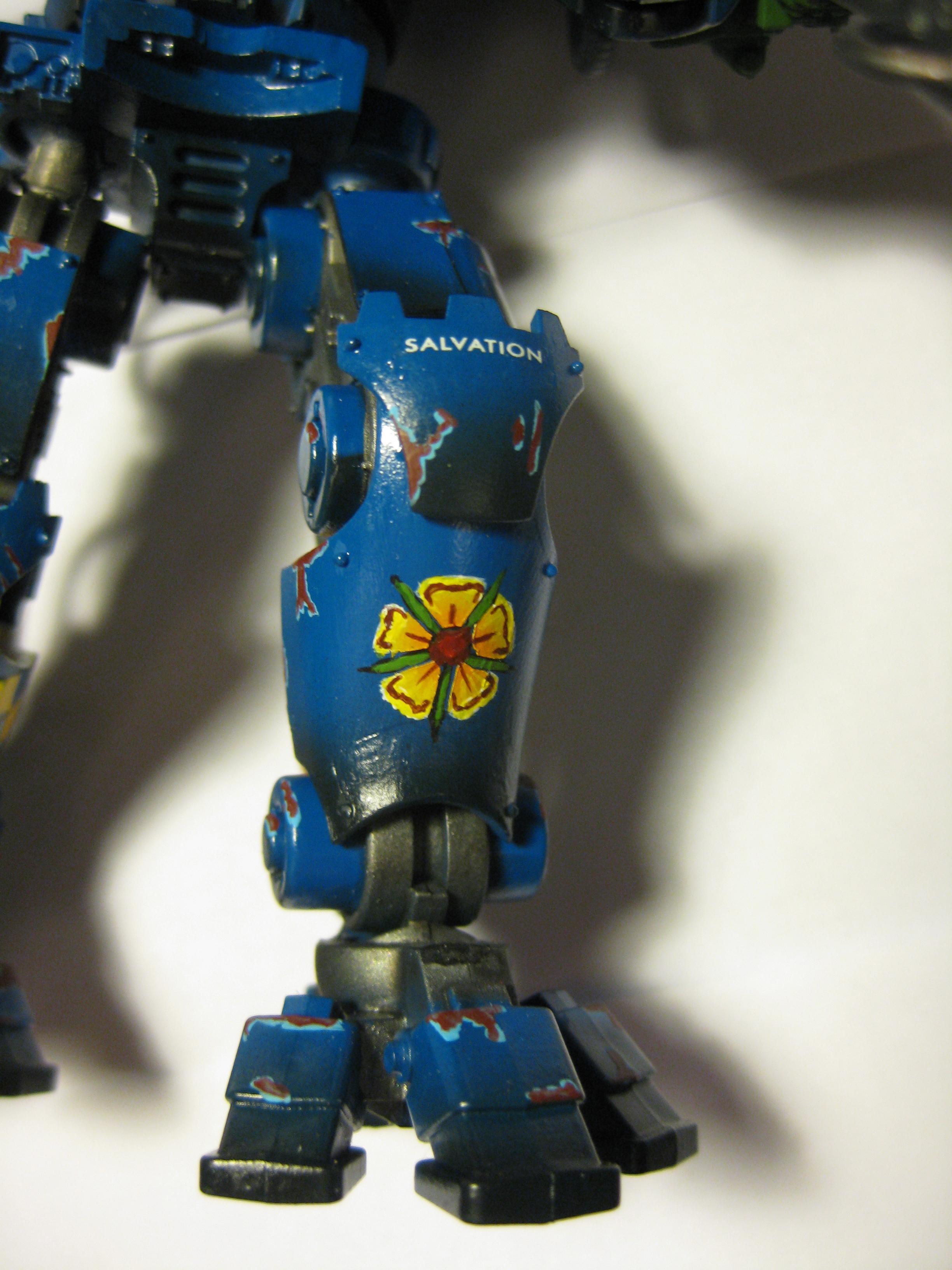 Adeptus Mechanicus, Airbrush, Blue, Chipping, Knights, Pip, Warhammer 40,000