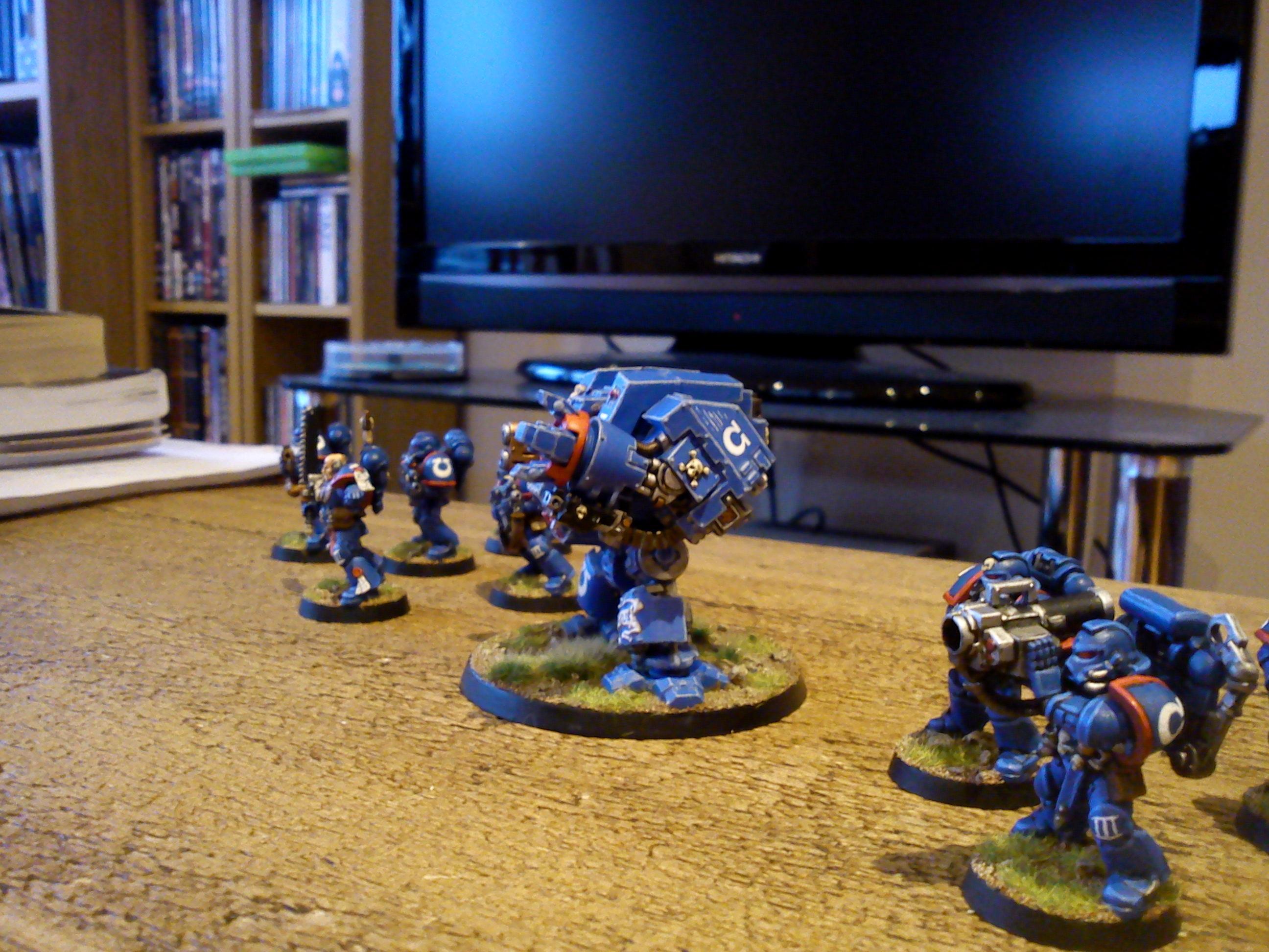 Army, Dreadnought, Space Marines, Ultramarines, Warhammer 40,000