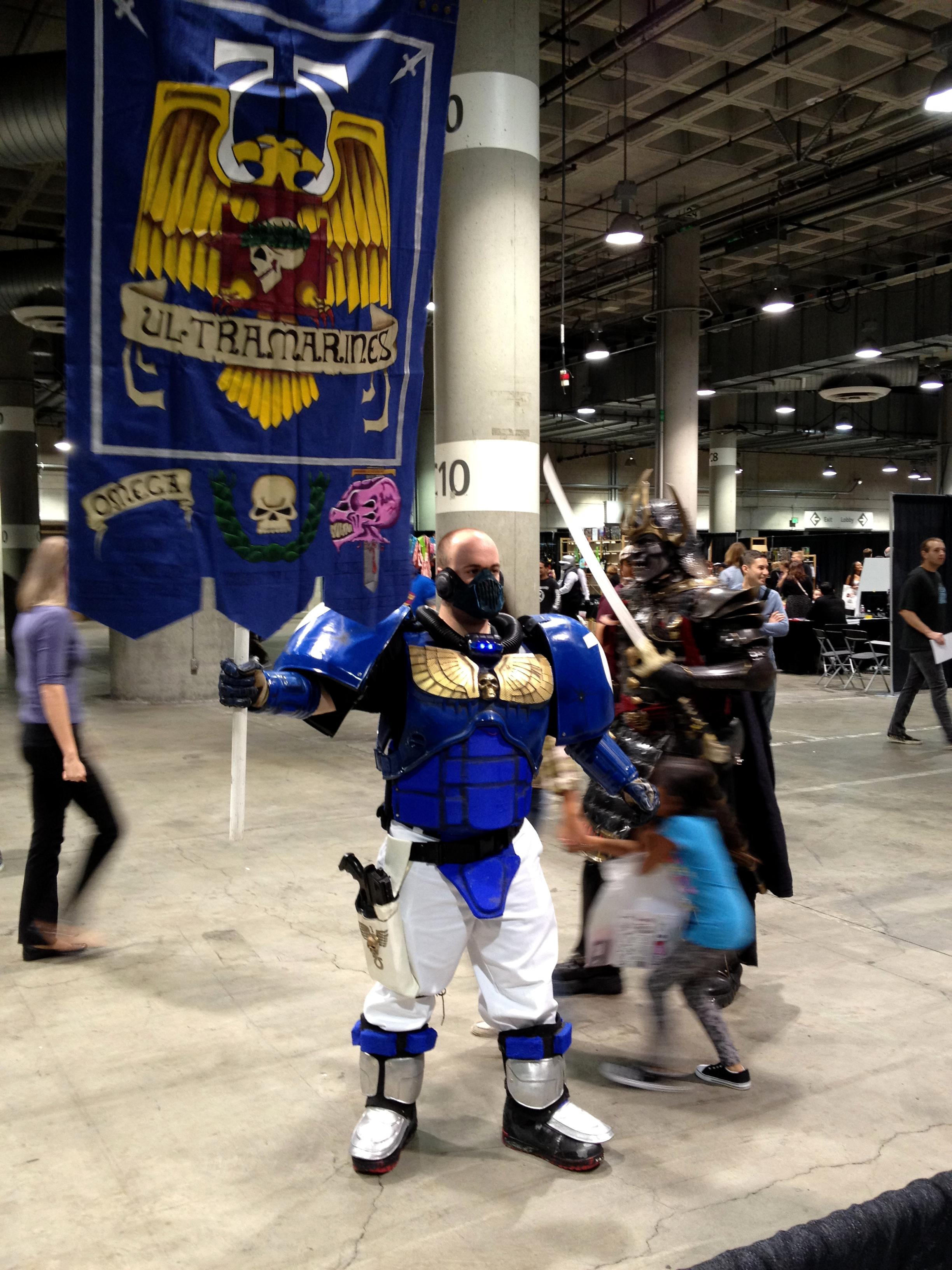Banner, Cosplay, Costume, Scouts, Space Marines, Ultramarines