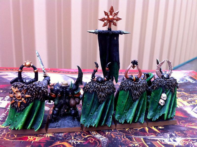 Chaos Warrior, Cloak, Cloaks, Command, Nurgle, Nurgle Chaos Warrior Command Cloaks