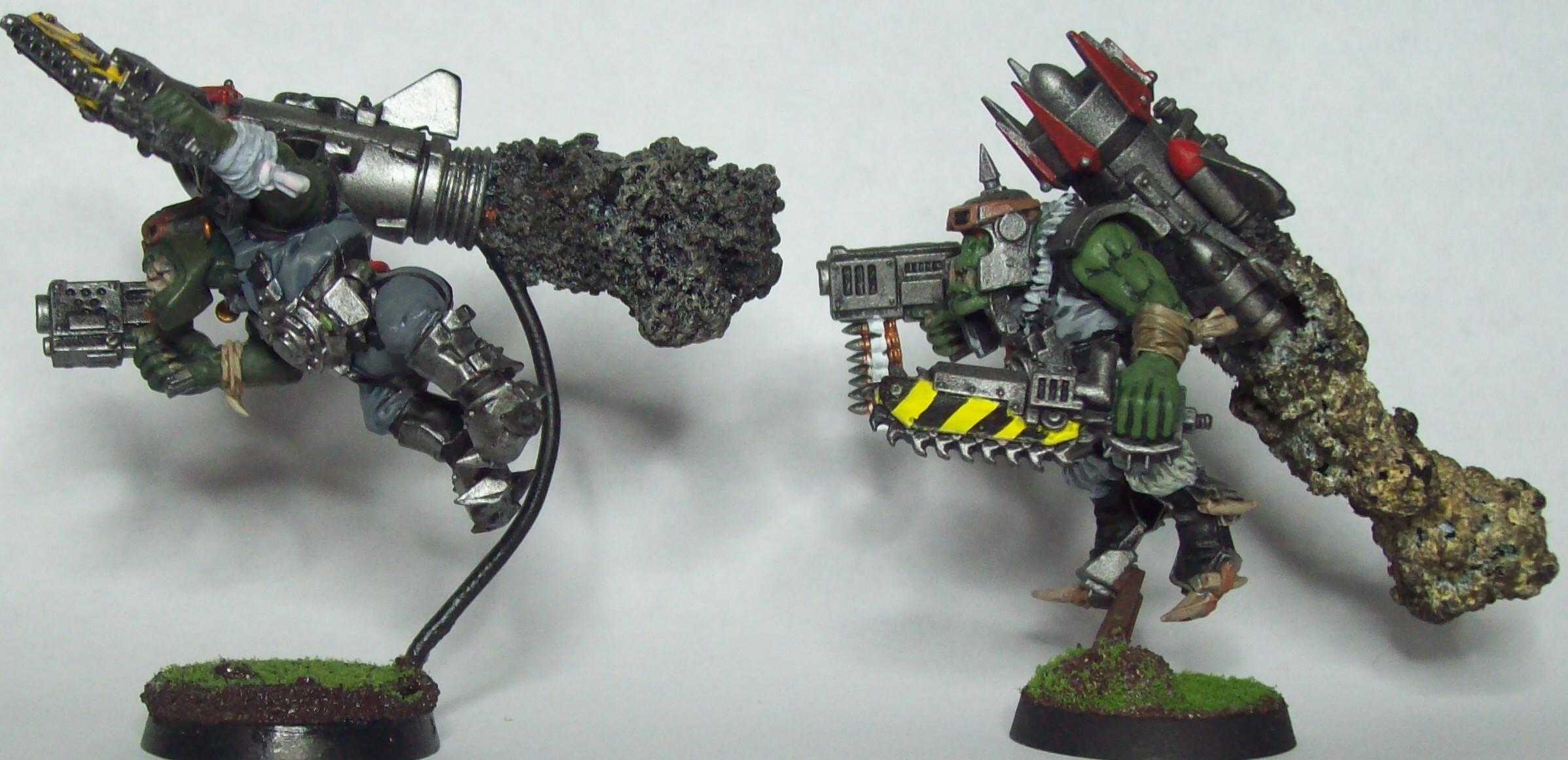 28mm, Flying, Orks, Orky, Painted, Smoke, Stormboyz, Warhammer 40,000