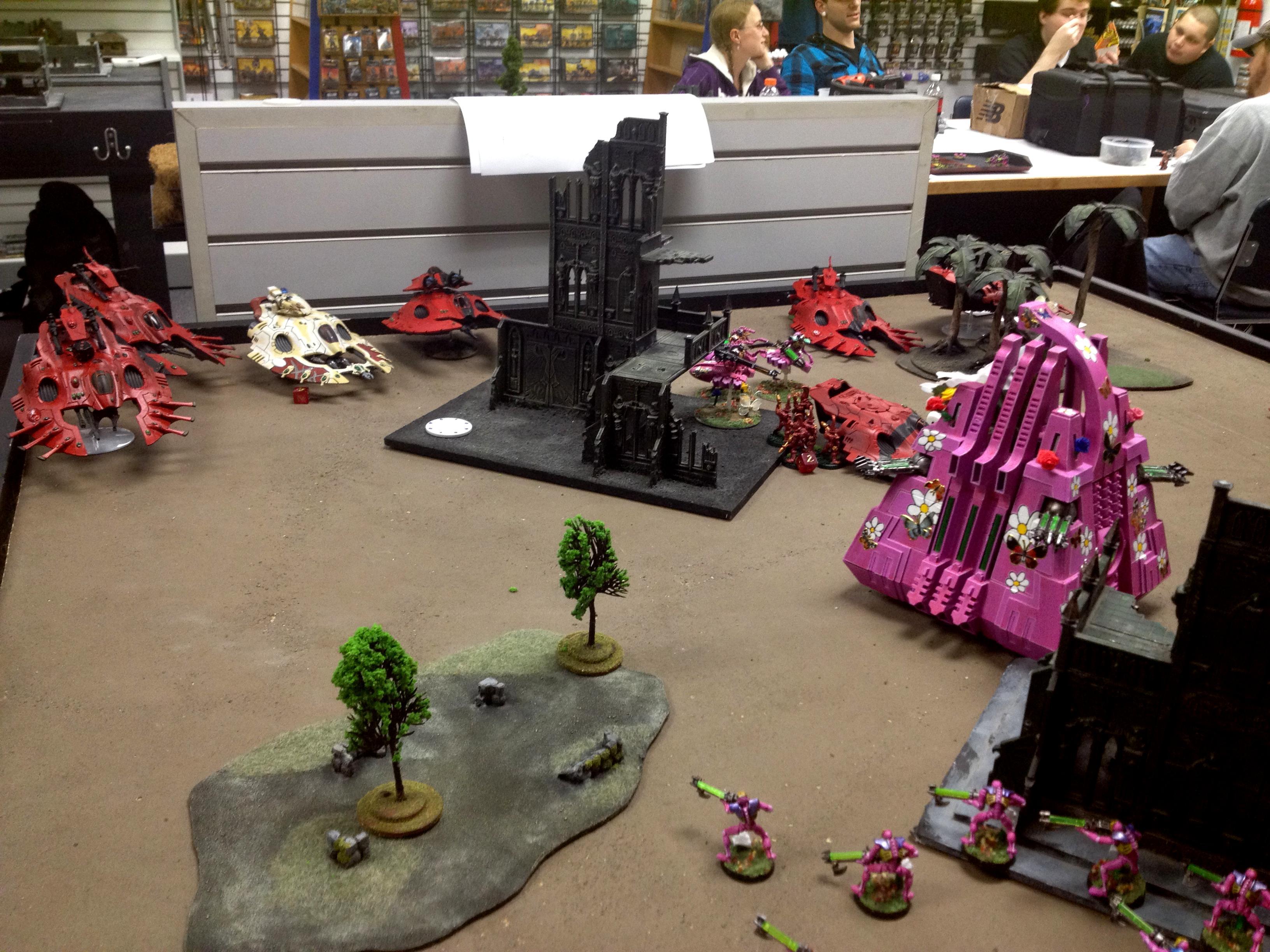 Break, Eldar, Game Table, Girlie, Necrons, Pink, Table Top