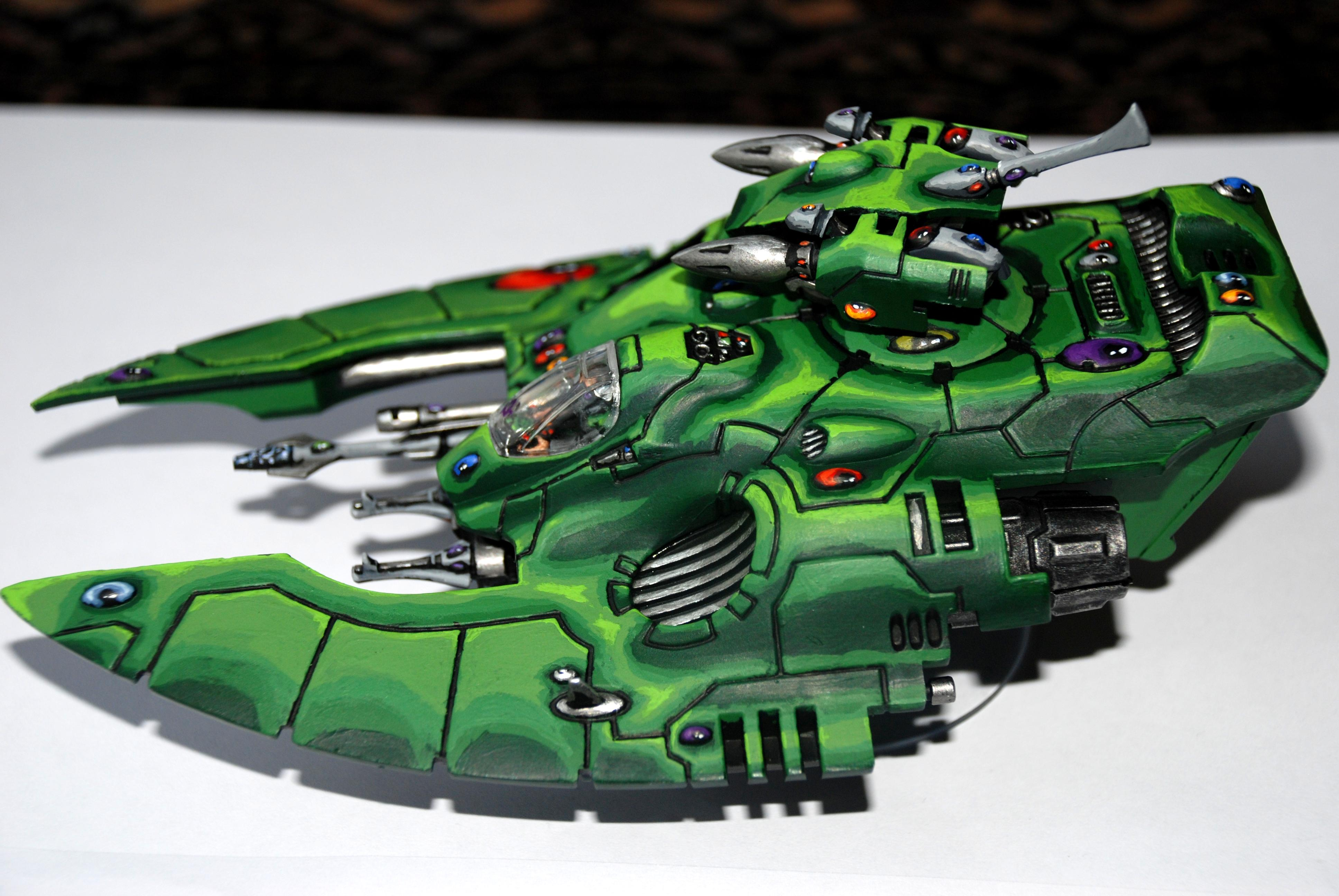 Blending, Eldar, Green, Painted, Transport, Warhammer 40,000, Wave Serpent