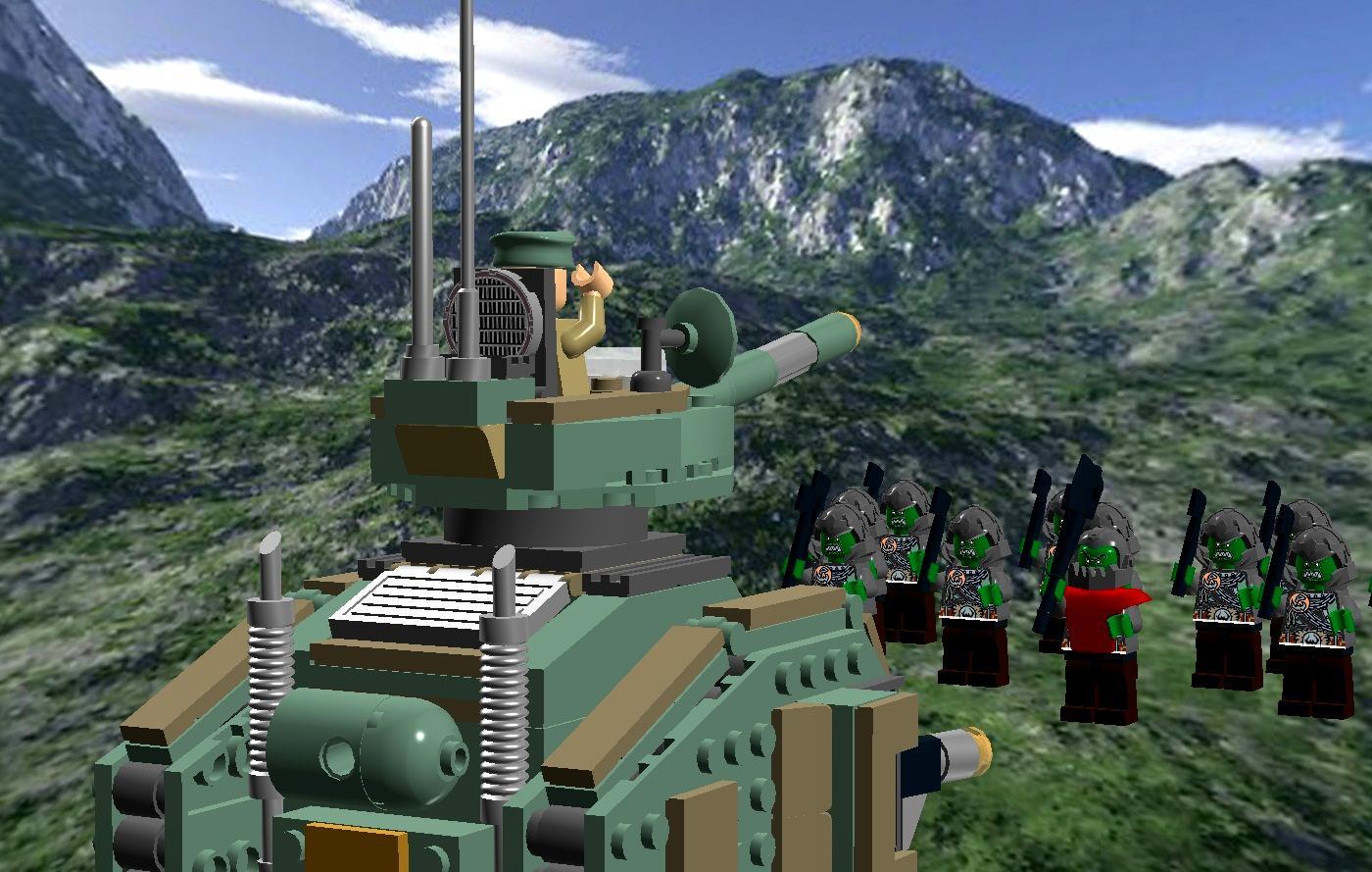 Astra Militarum, Imperial Guard, Lego, Leman Russ