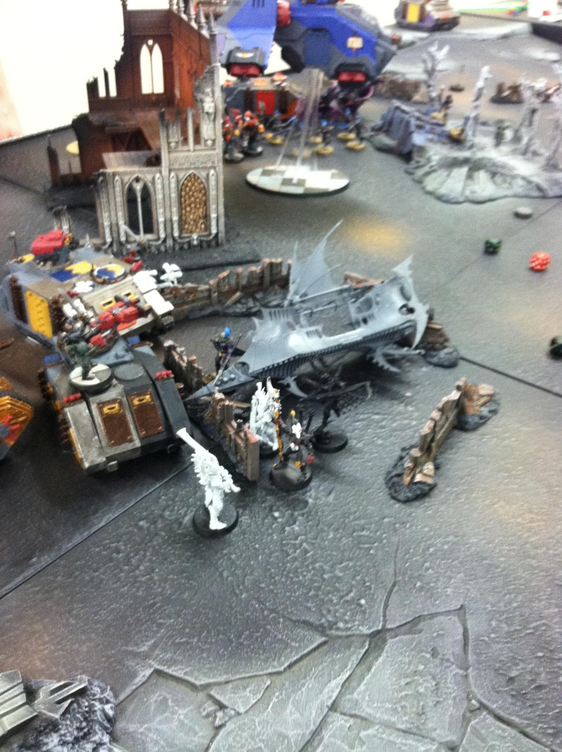 Battle, Dark Eldar, Space Marines, Tabletop, Wreck