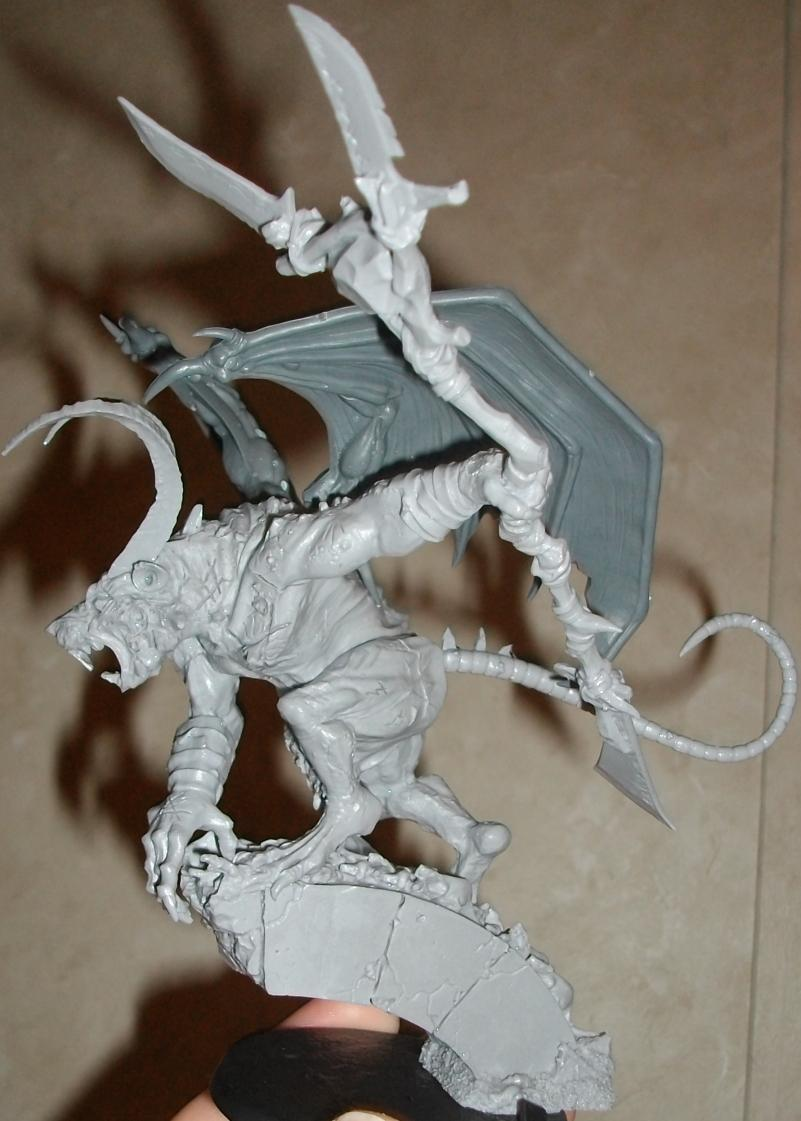 Apocalypse, Chaos, Chaos Daemons, Conversion, Daemon Prince, Exalted Vermin Lord, Rat, Skaven, Vermin Lord, Warhammer 40,000, Winged