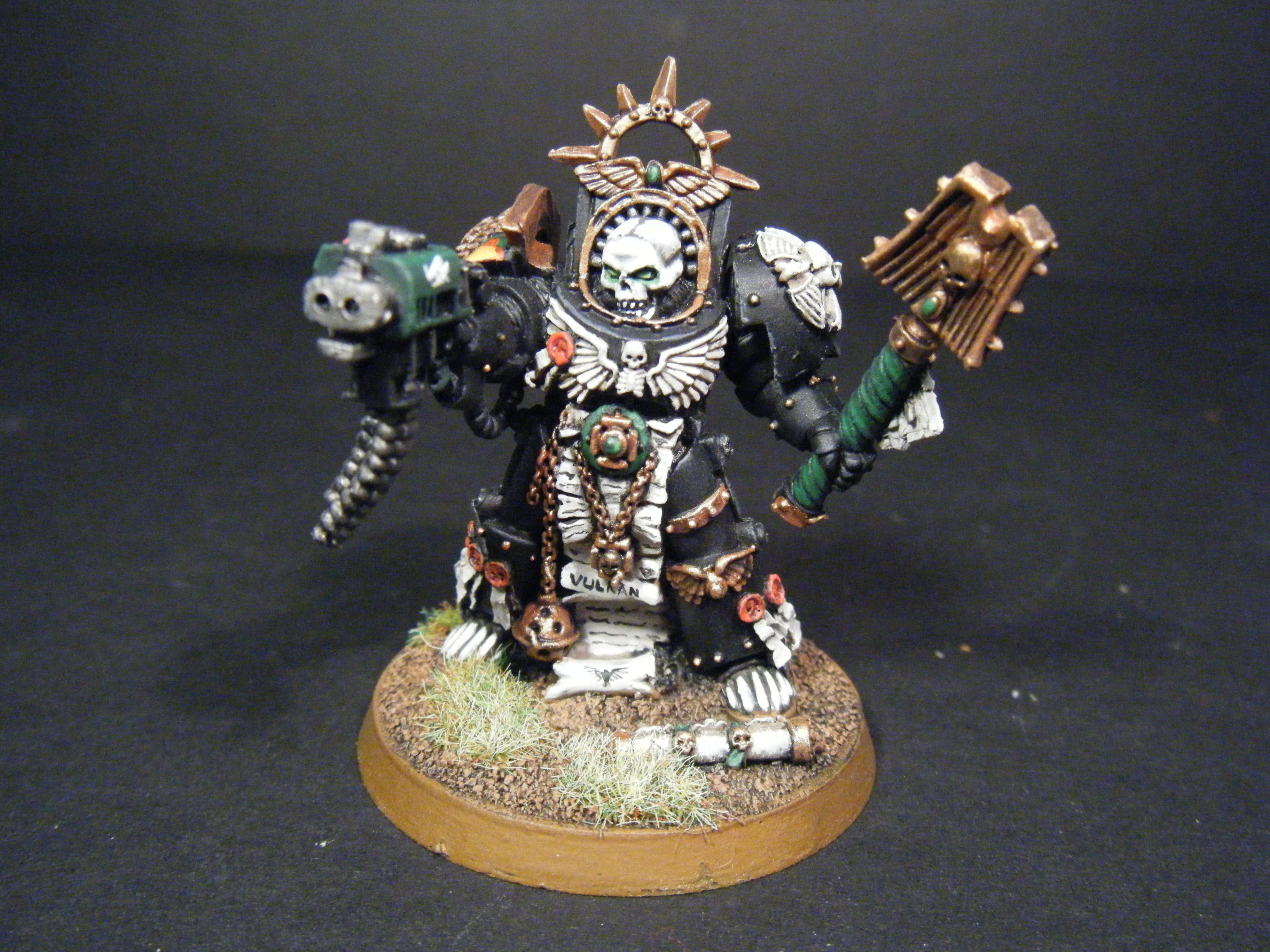 Chaplain, Salamanders, Space Marines, Terminator Chaplain, Warhammer 40,000