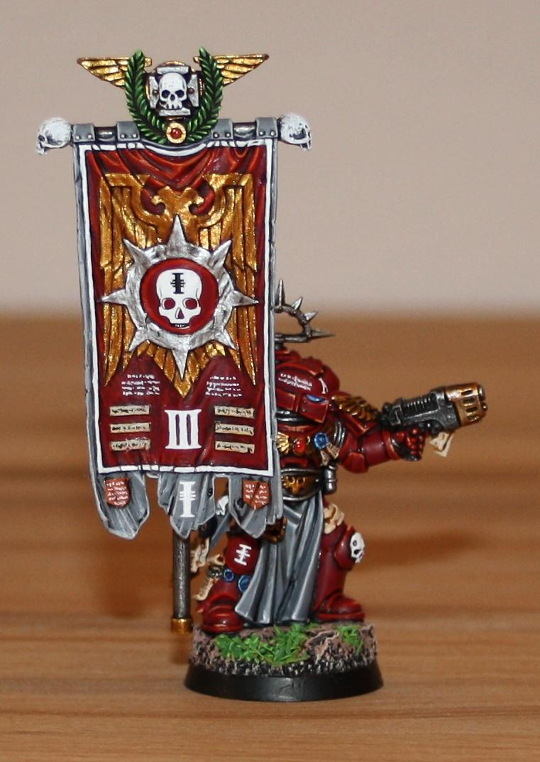 Red Hunters, Space Marines, Standard Bearer, Veteran