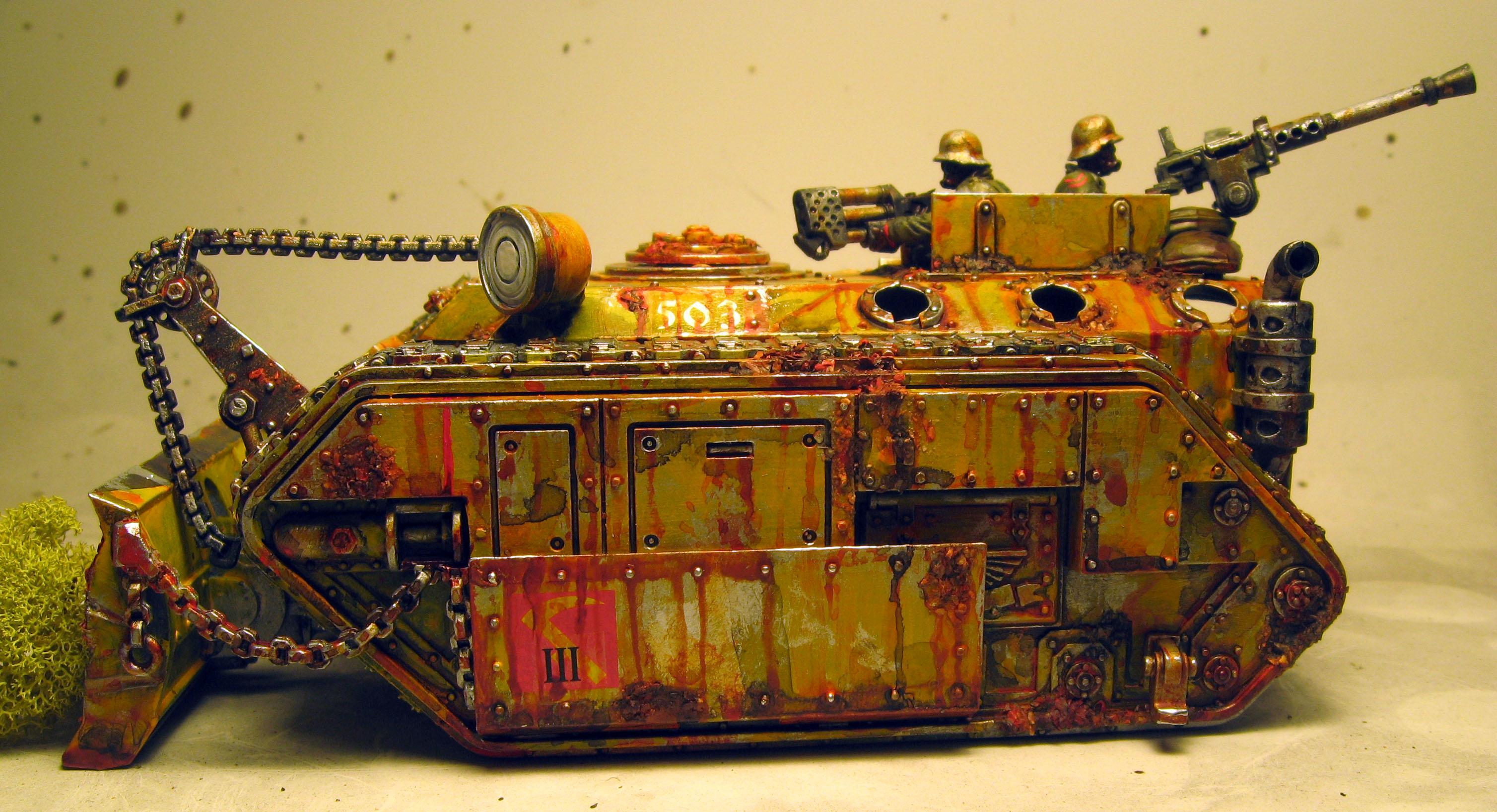 Chimera, Heavy Flamer, Heretic, Imperial Guard, Renegade, Rust, Transport