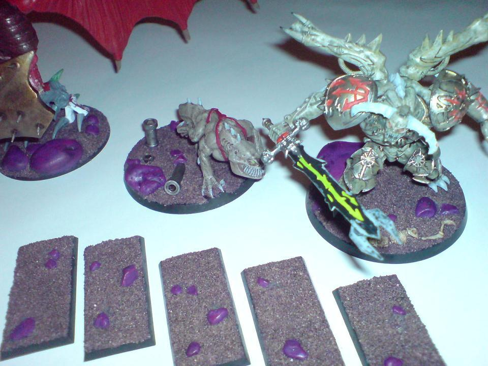 Bases, some pebbles, some GW sand effect and a purple wash - nice and simple
