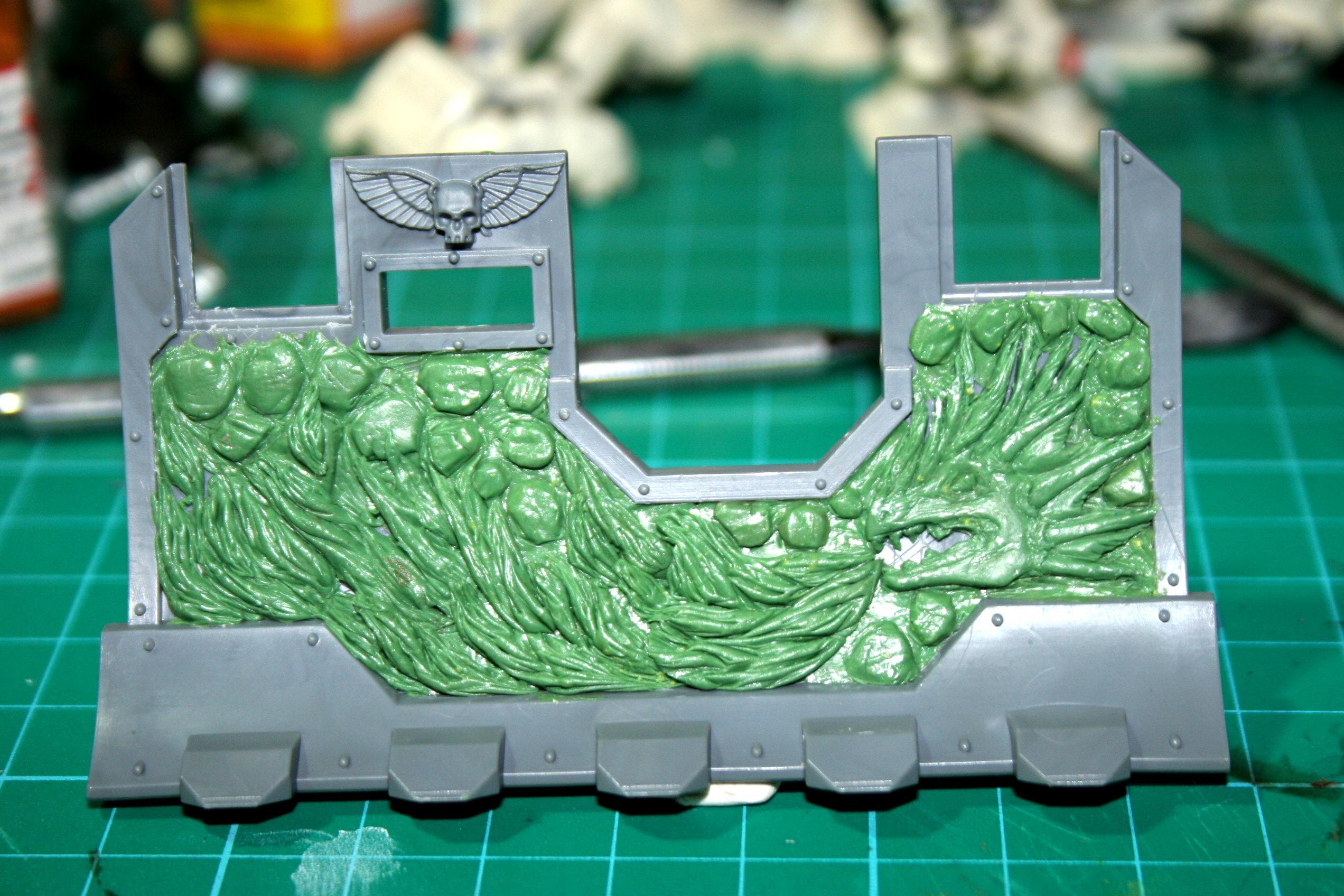 Greenstuff, Salamanders, Space Marines, Work In Progress