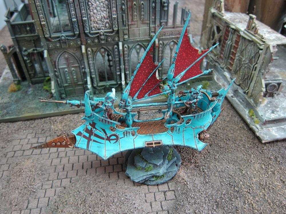Battle Damage, Blue, Conversion, Dark Eldar, Raider, Rust