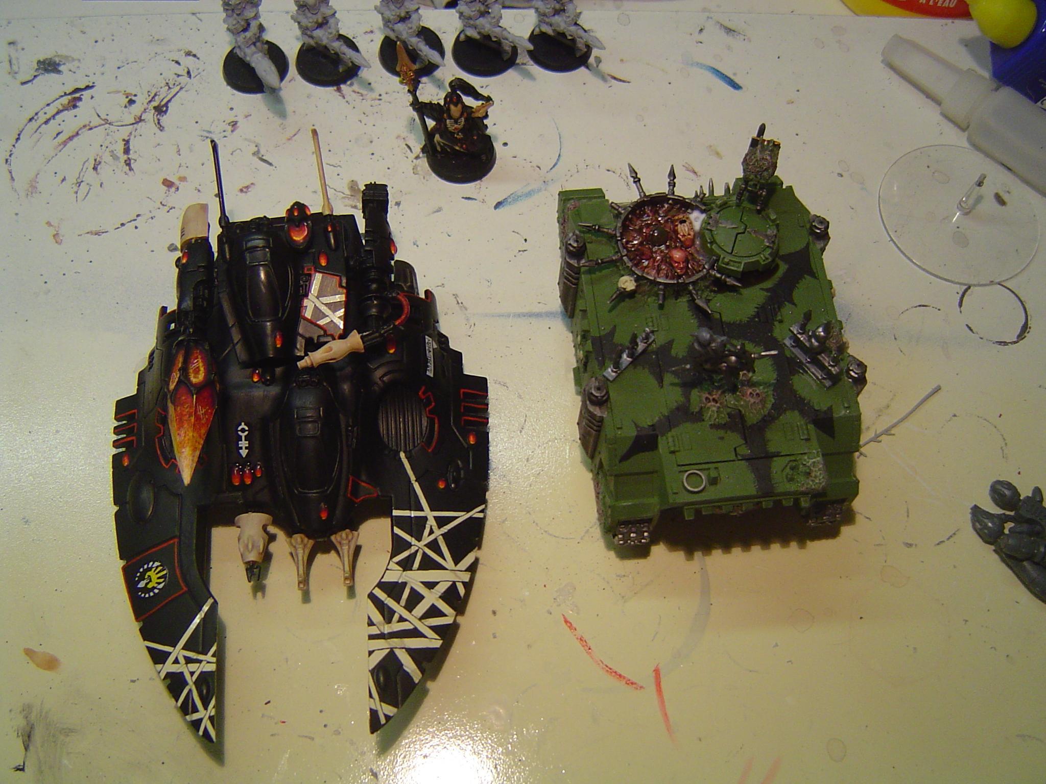 Eldar, Fire Prism, Gloss Varnish, Snow, Ulthwe, Warhammer 40,000, Winter, Wraithlord