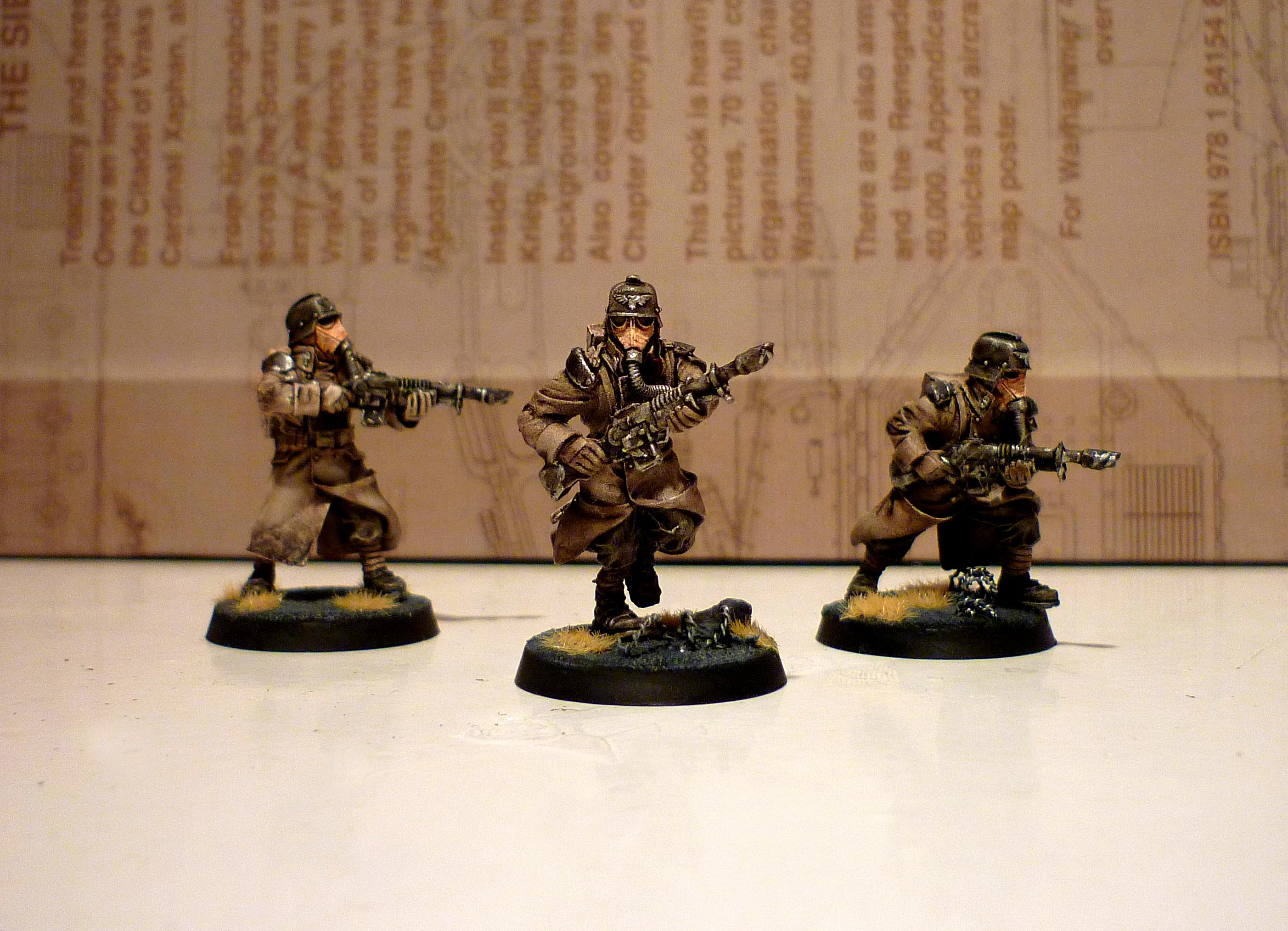 Death Korps of Krieg, Guardsmen, Lasguns, Lasmen, Razorwire, Wash