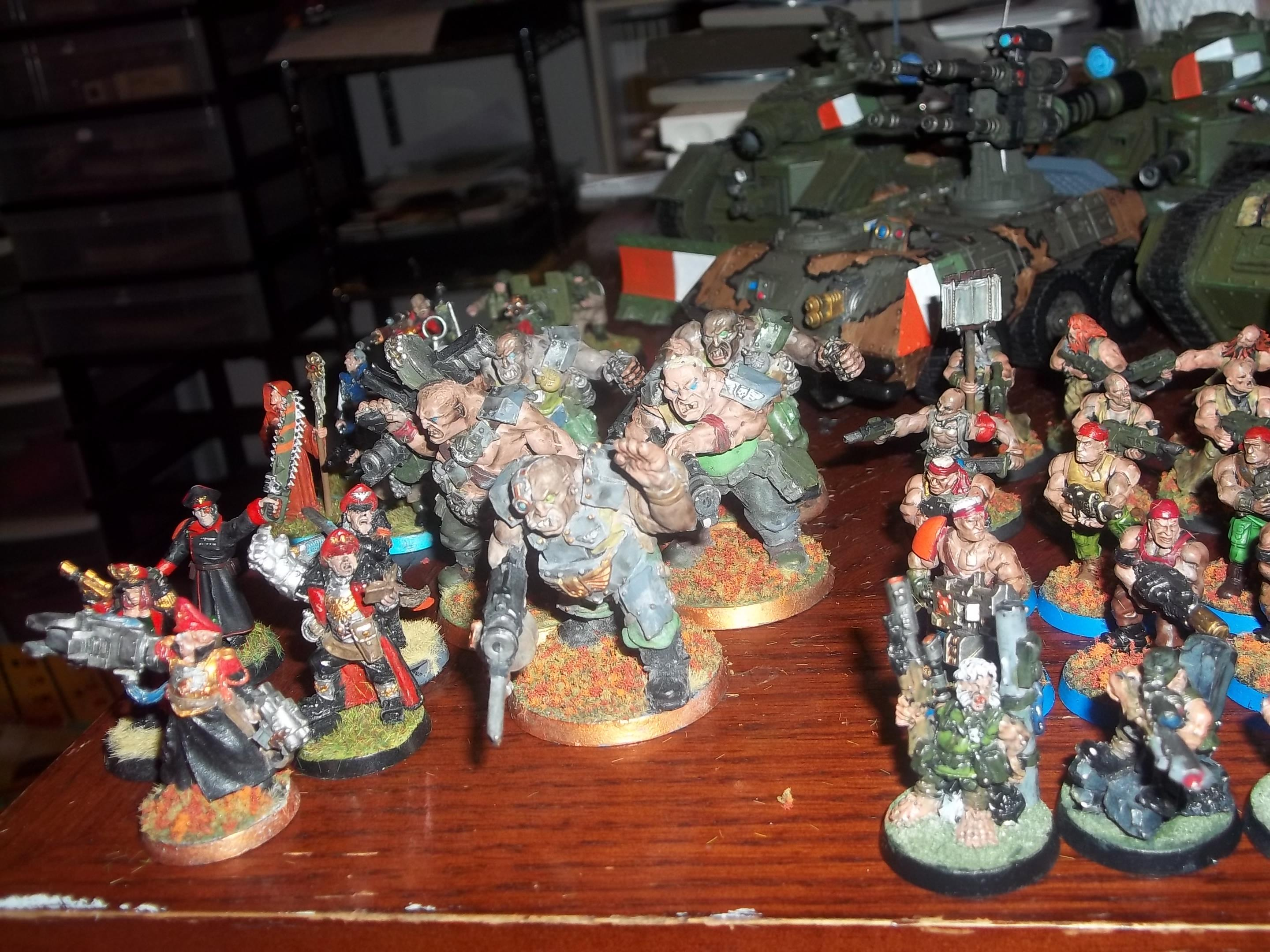 Commissars, ratlings, Harker and his squad, penal legion squad