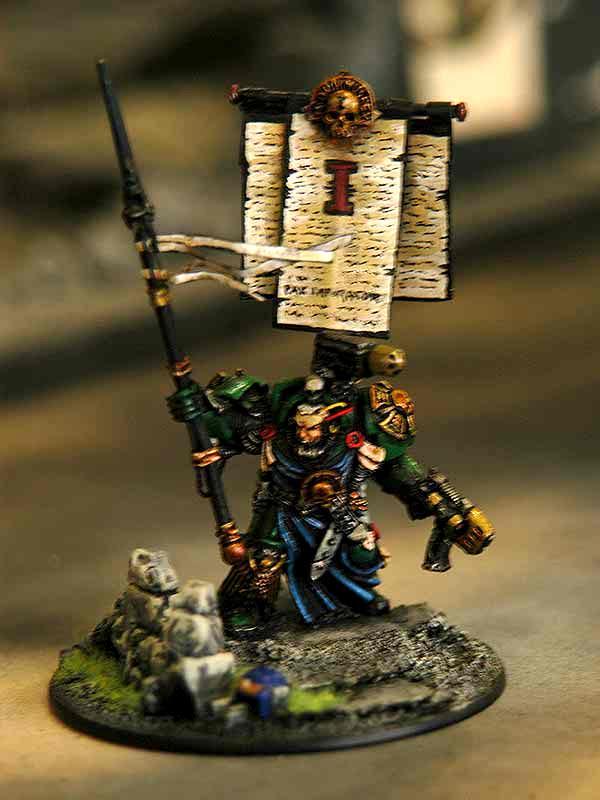 Banner, Bannerpole, Daemonhunter, Demonhunter, Inquisitor, Malleus, Terminator Armor