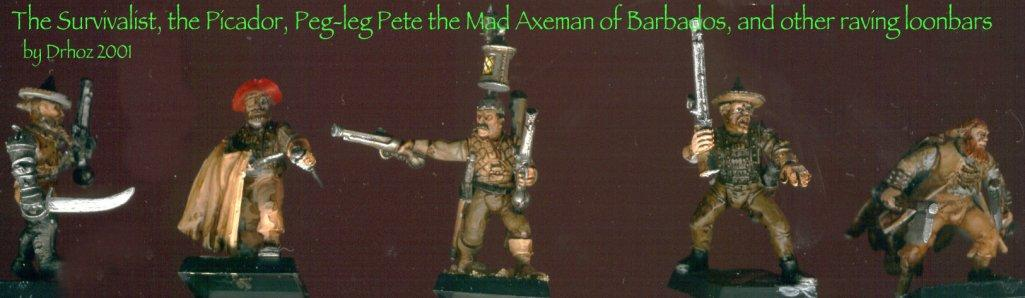 Adventurers, Militia, Mordheim, Pirates, Ten Foot Pole, Treasure-hunters, Warhammer Fantasy
