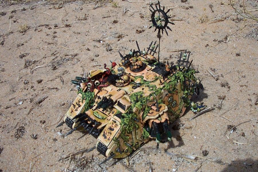 Chaos, Chaos Space Marines, Damage, Land Raider, Melted, Nurgle, Spiky, Traitor