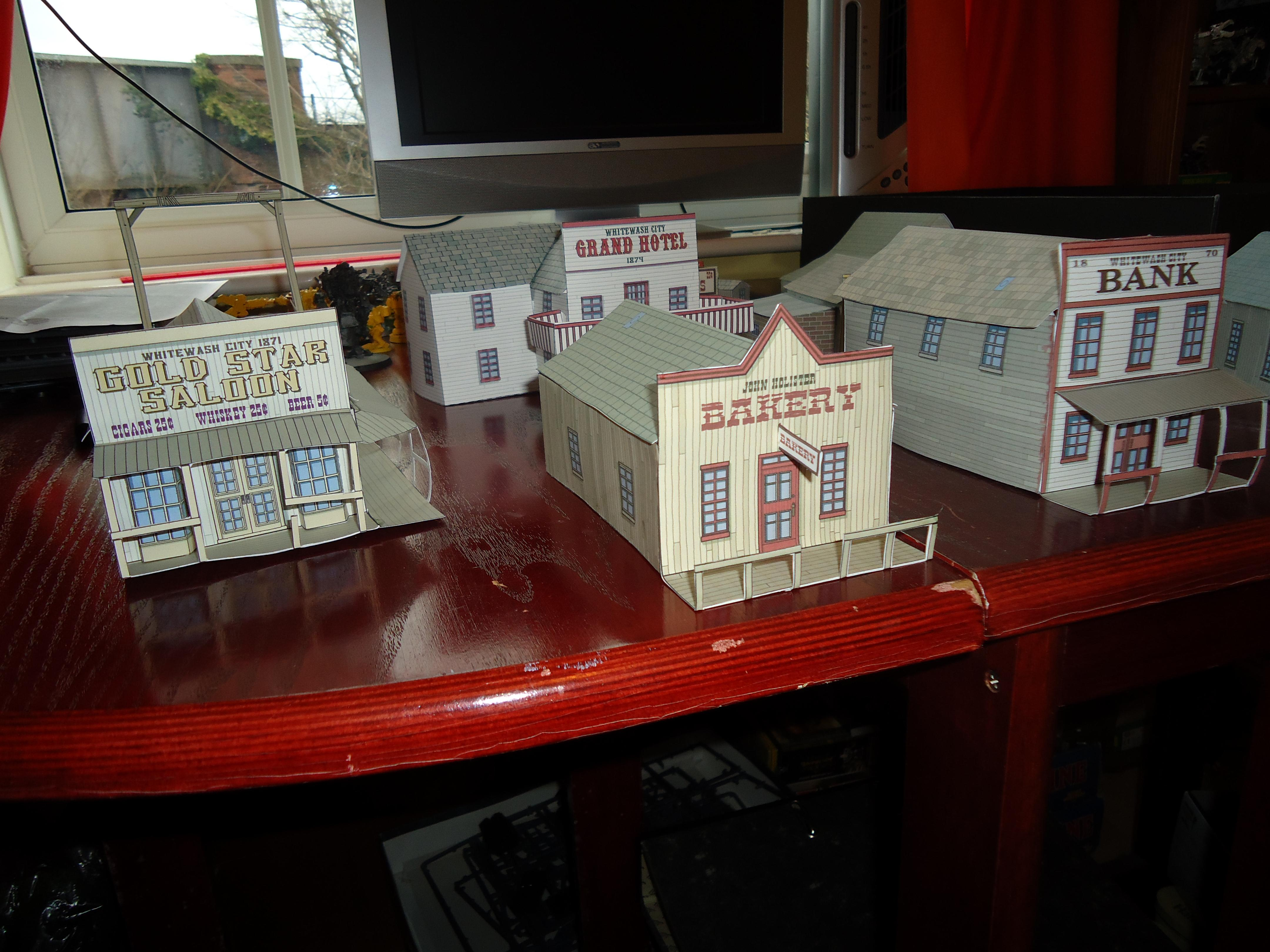Whitewash City Papercraft 1