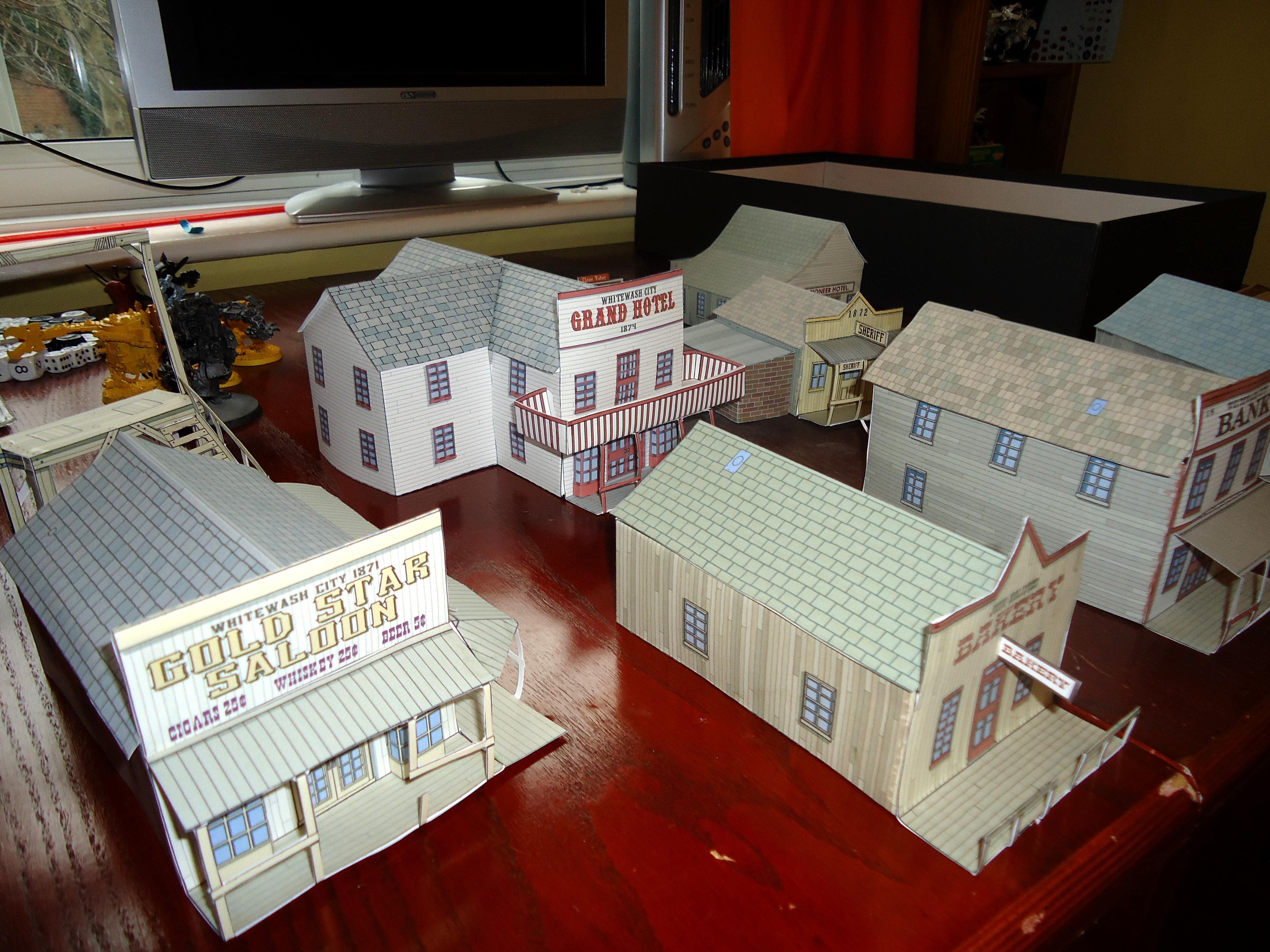 Whitewash City Papercraft 4