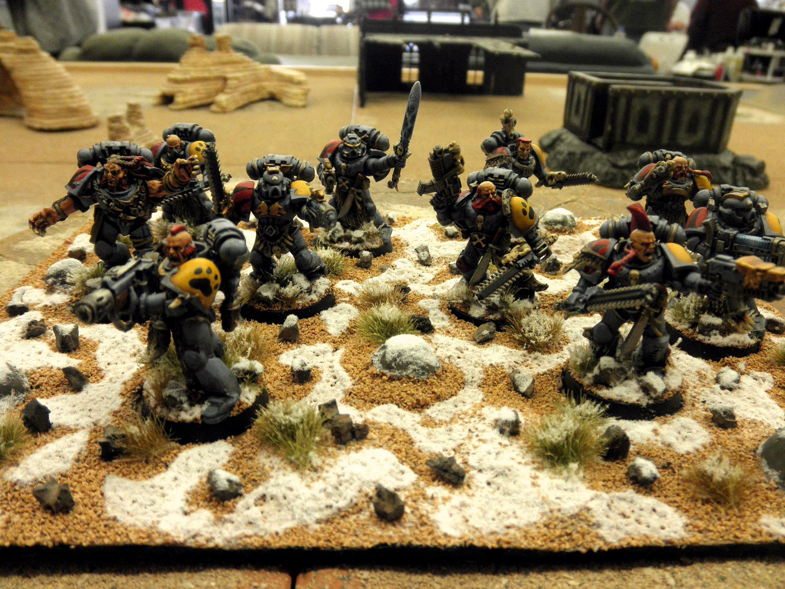 Painted, Space Marines, Space Wolves, Troops, Warhammer 40,000, Warhammer Fantasy