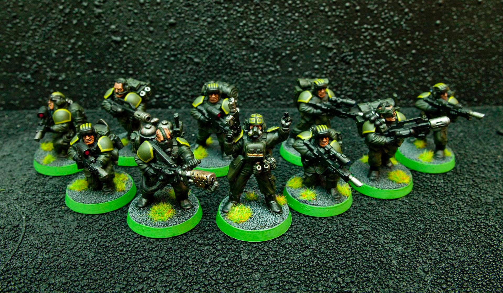 Flamer, Forward Sentries, Guard, Imperial Guard, Infiltrators, Meltagun, Meltaguns, Recon, Sgt, Verterans, Veteran, Veteran Squad