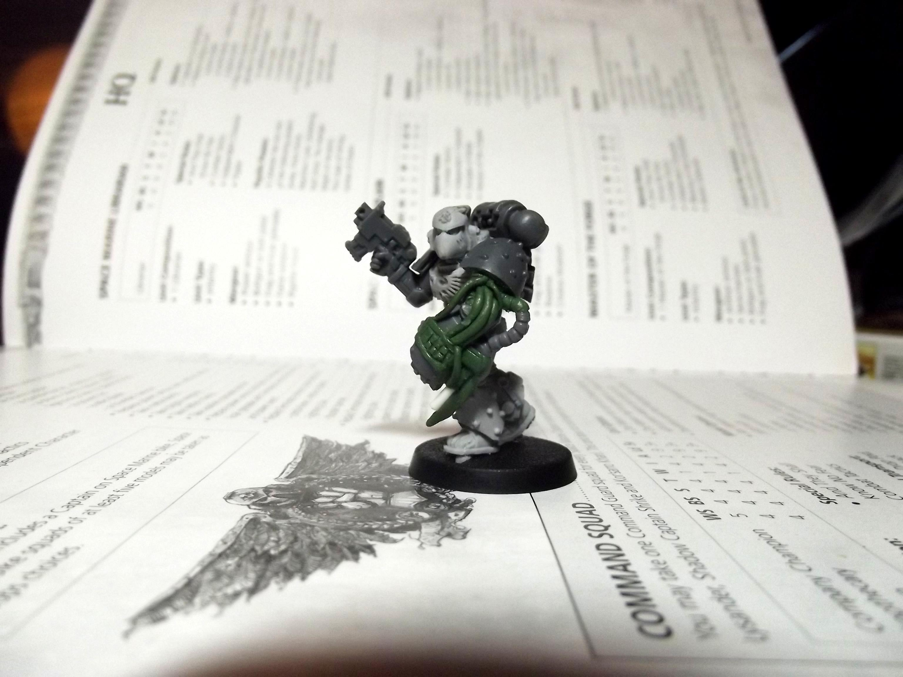 Apothecary, Conversion, Forge World, Greenstuff, Raven Guard, Scratch Build, Space Marines