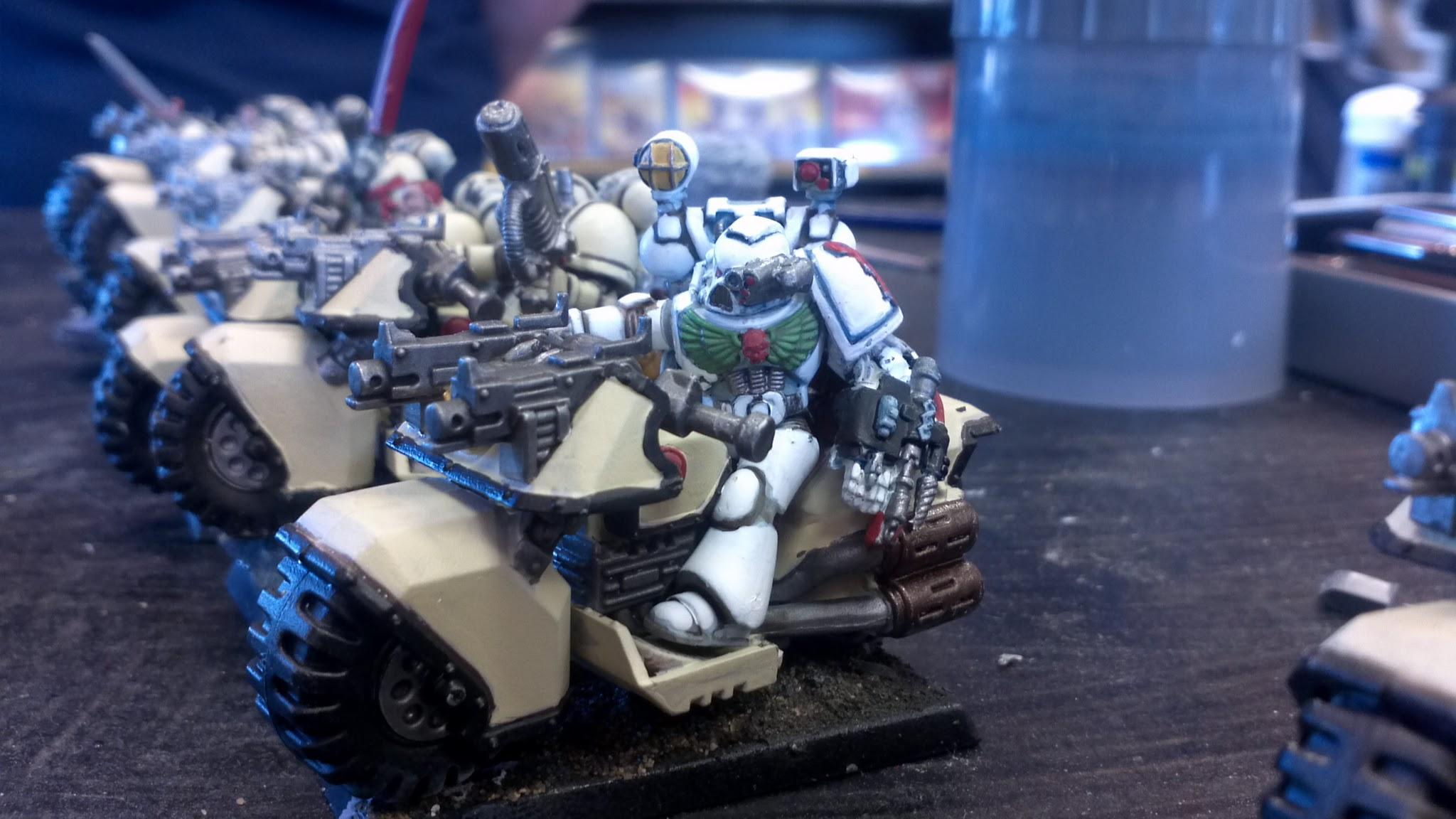 Apothecary, Bike, Space Marines