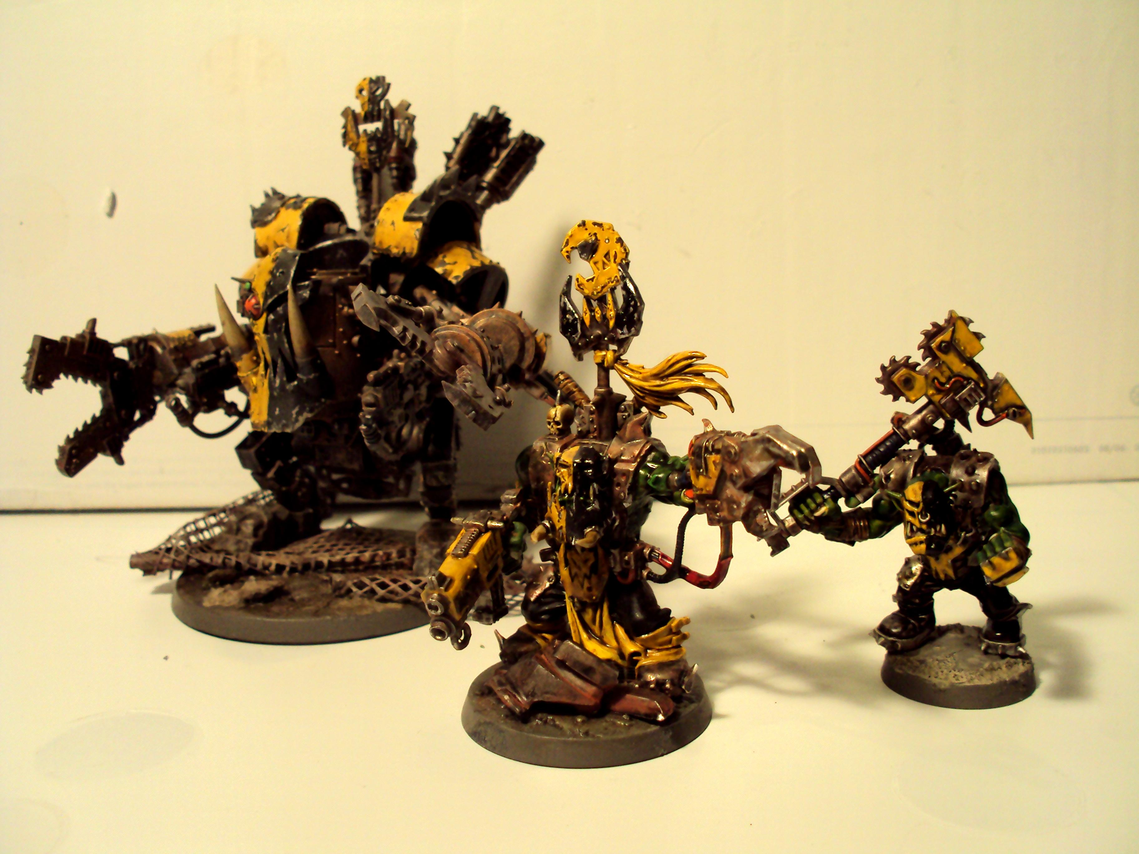 Bad Moons, Orks, Rust, Warhammer 40,000, Weathered, Yellow Orks