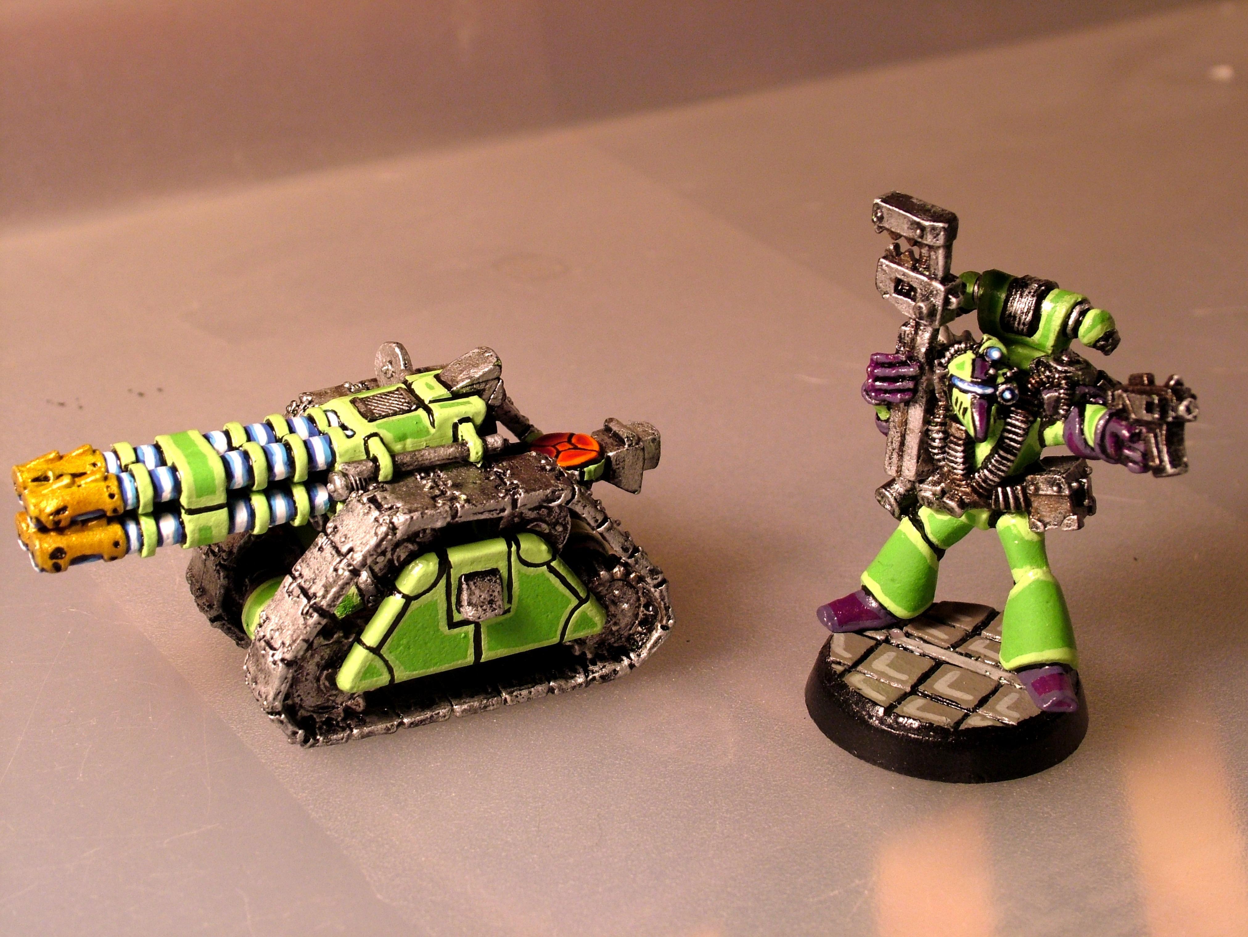 Green Scorpians, Rapier Laser, Rogue Trader, Space Marines, Tech Marine