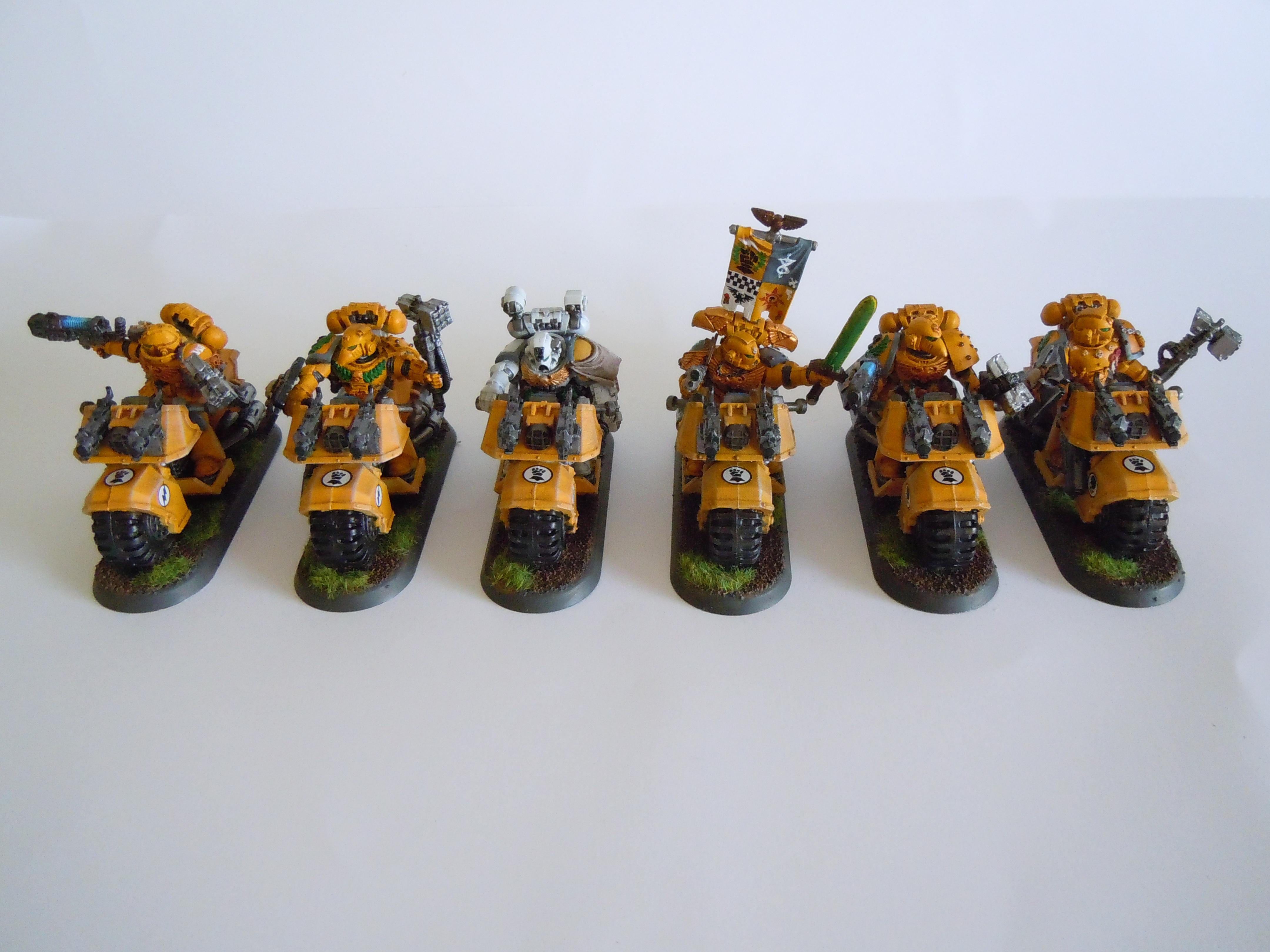 Bike, Close Combat Weapons, Imperial Fists, Space Marines
