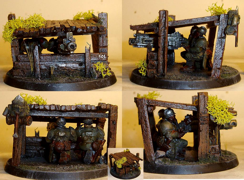 Bunker, Heavy Bolter, Heavy Weapon, Imperial Guard, Renegade, Scratch Build, World War 2