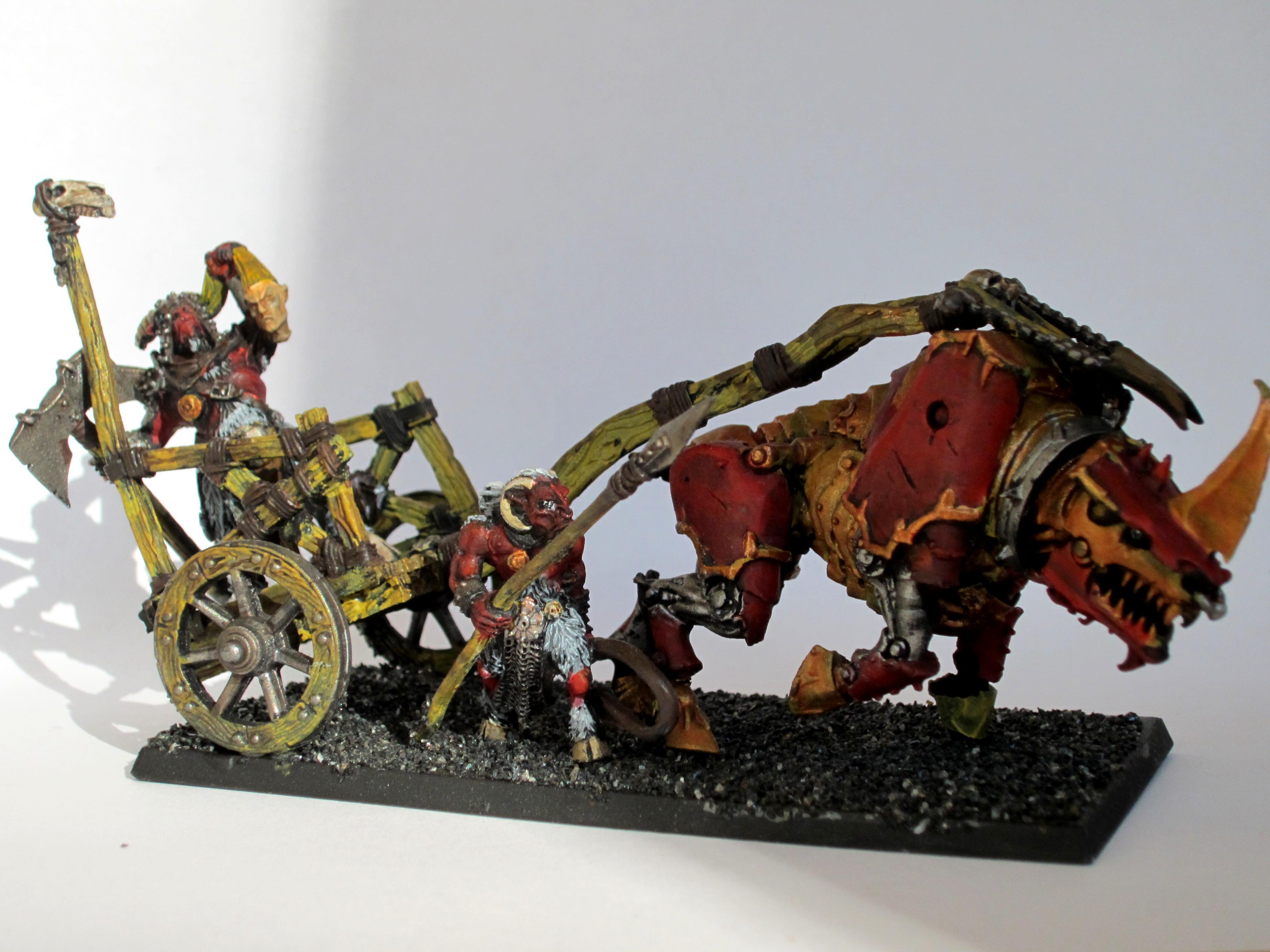 Beastmen, Chaos, Chariot, Khorne, Warhammer Fantasy