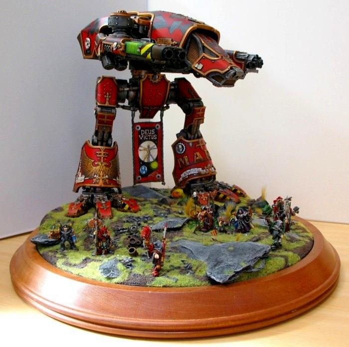 Adeptus Mechanicus, Diorama, Forge World, Titan, Warhound
