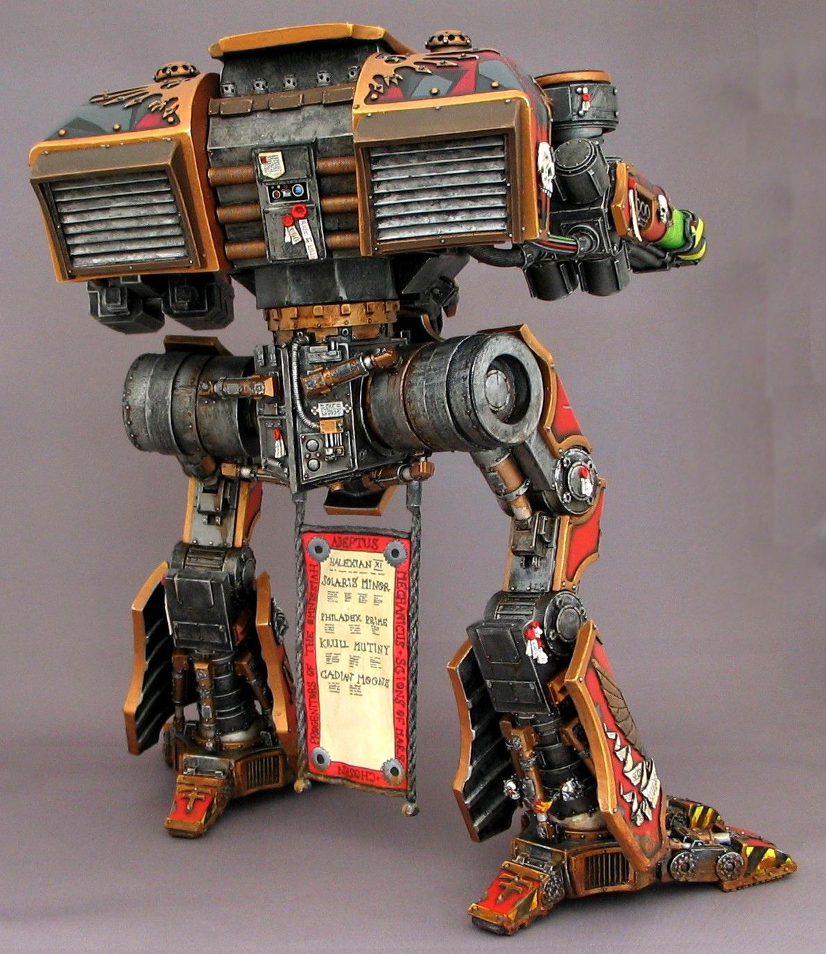 Mars, Titan, warhound titan back
