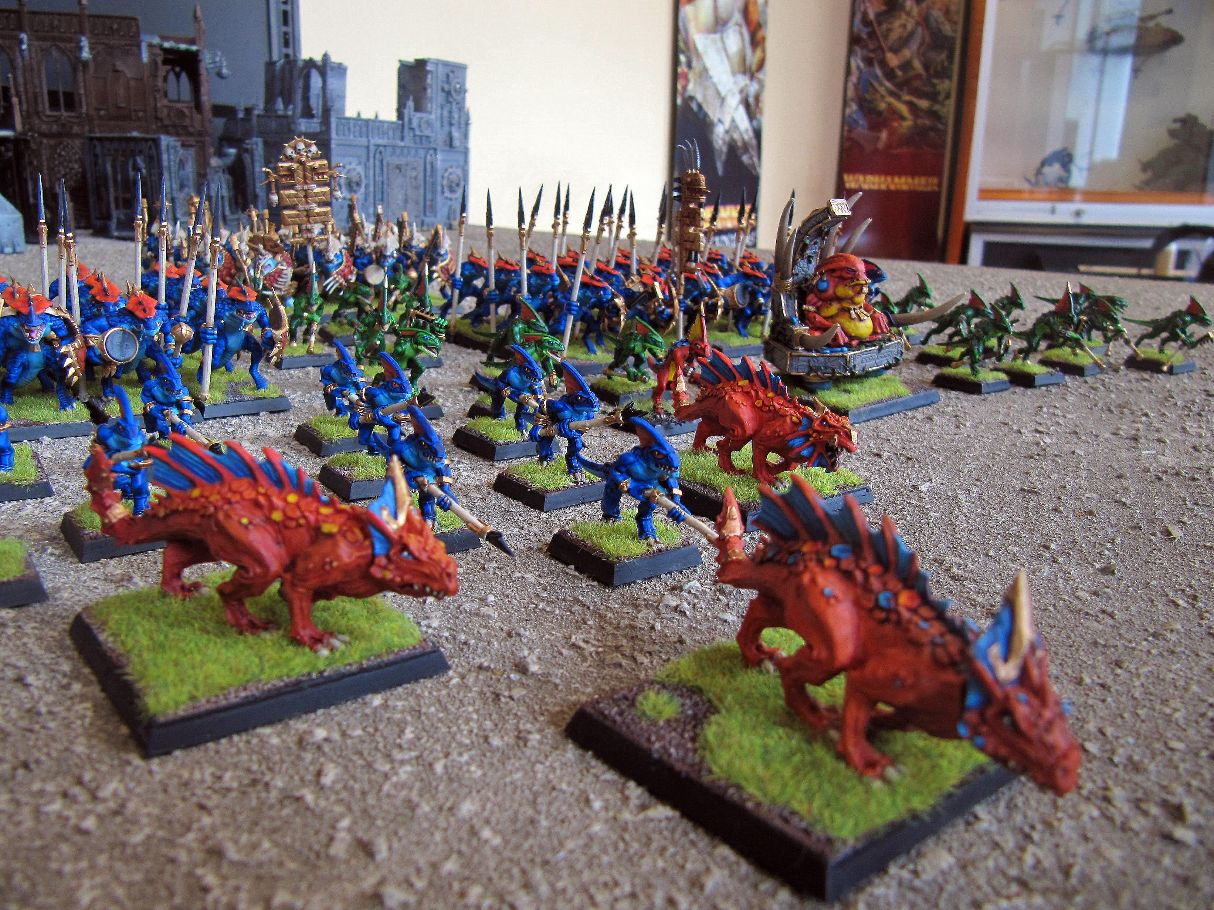 Lizardmen, Saurus, Skinks, Slann, Warhammer Fantasy