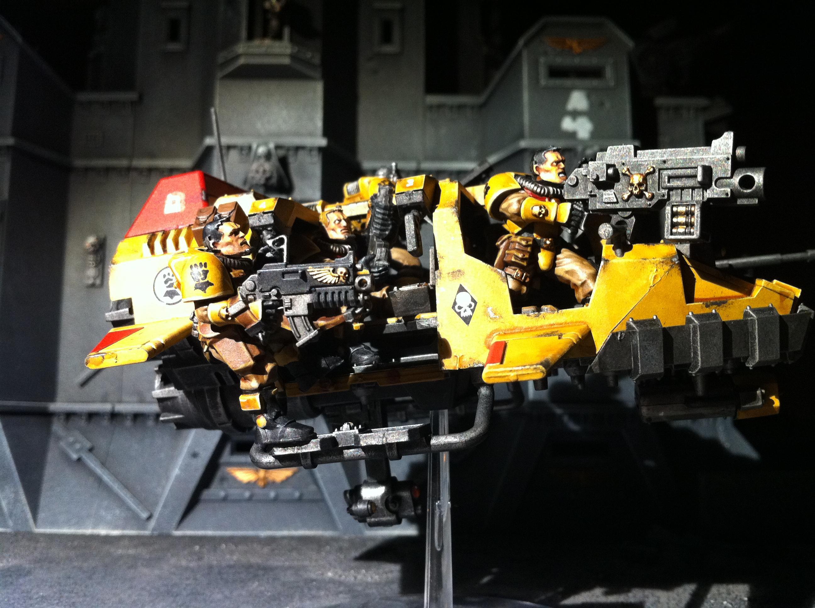 Imperial Fists, Land Speeder, Land Speeder Storm, Scouts, Space Marines, Warhammer 40,000
