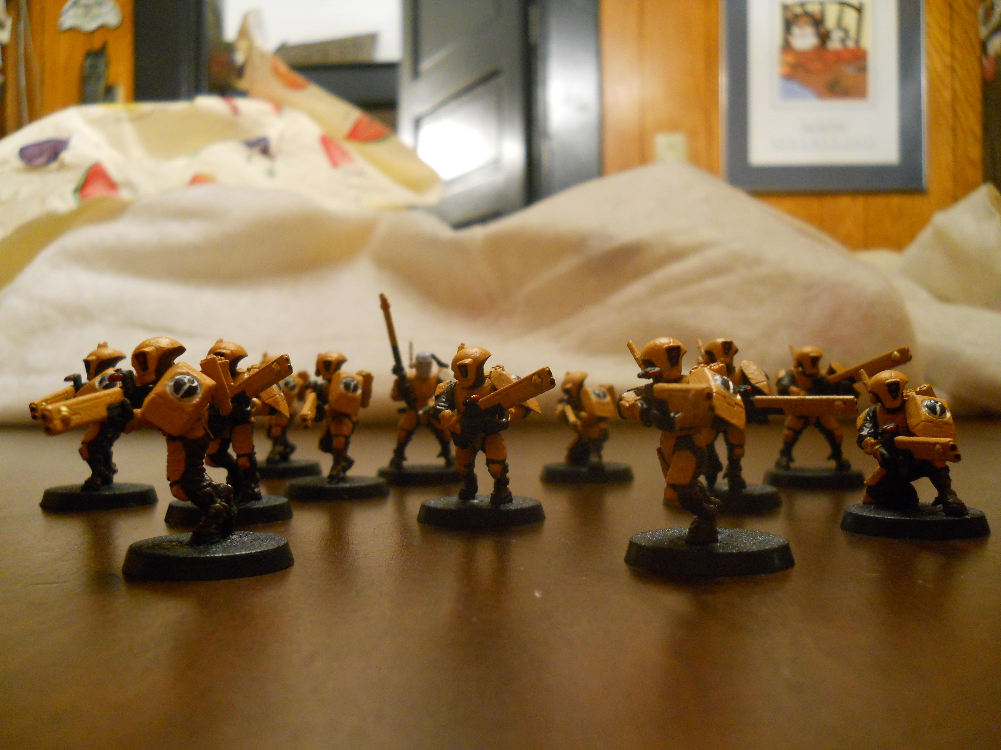 Commander, Empire, Fire Warriors, Pulse Rifles, Tau