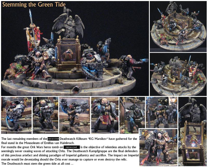 Conversion, Diaroma, Last Stand, Space Marines, Warhammer 40,000