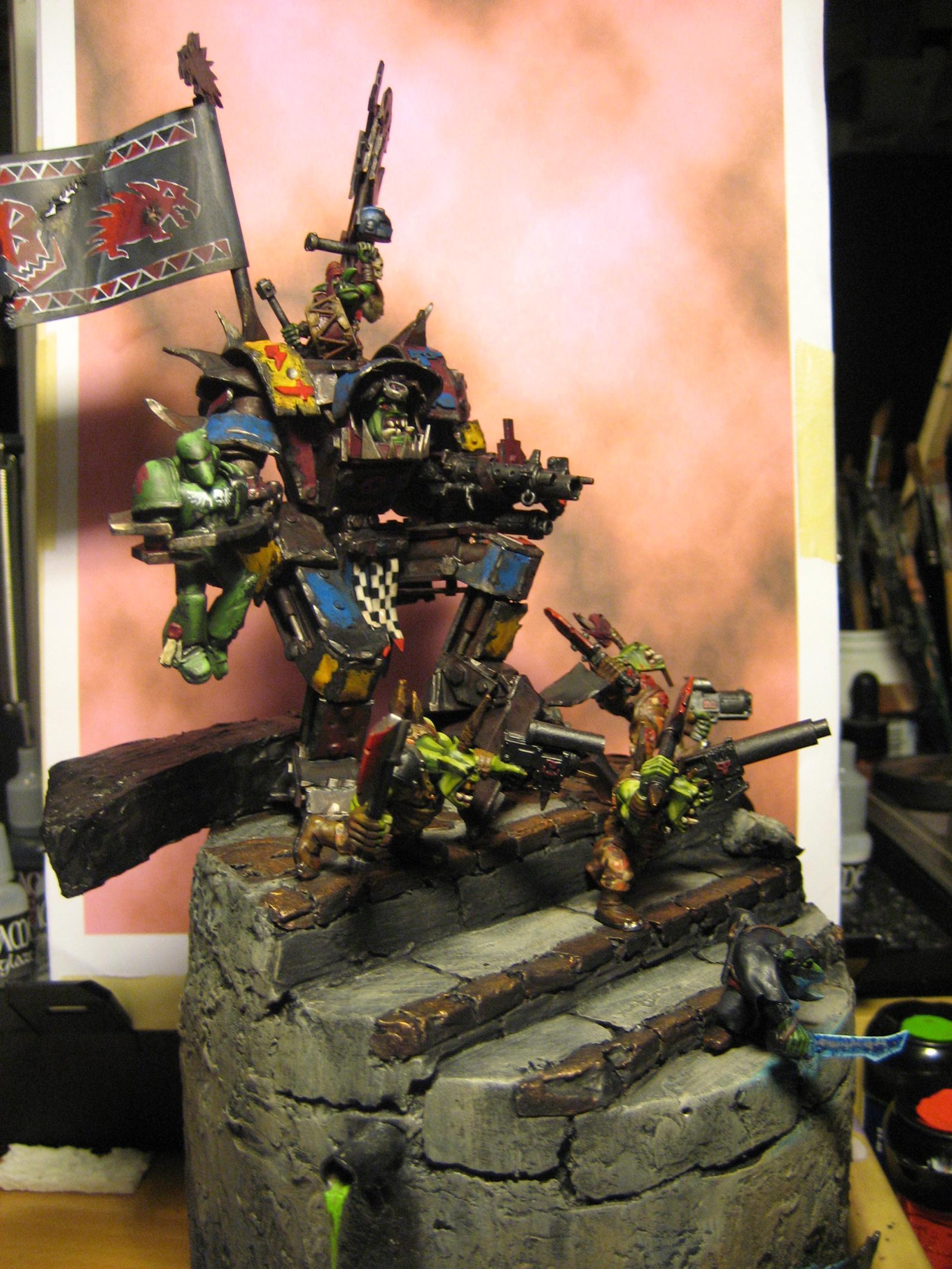 Diorama, Orks, Warboss, Warhammer 40,000