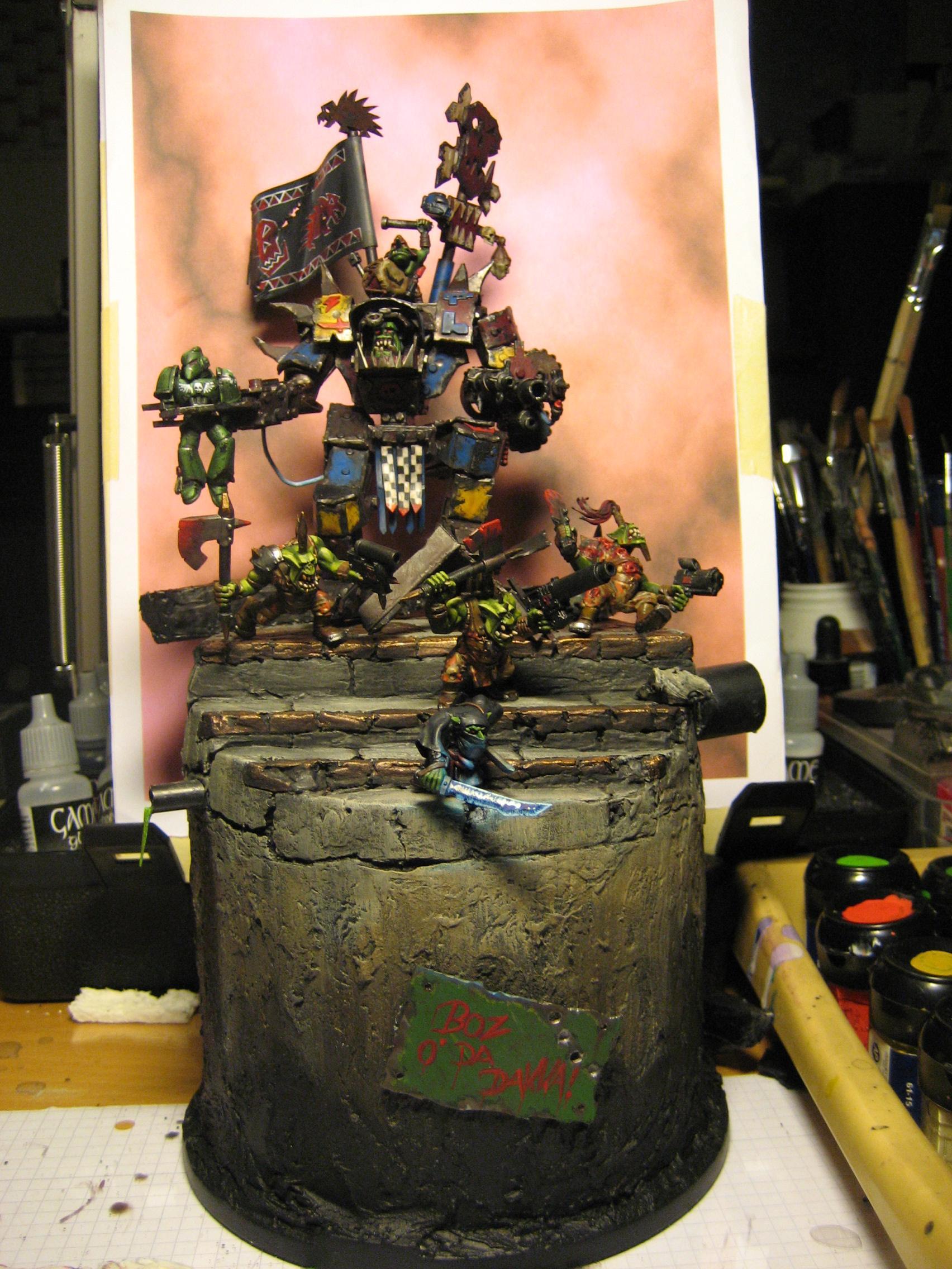 Ork Dreadnought, Orks, Warboss, Warhammer 40,000