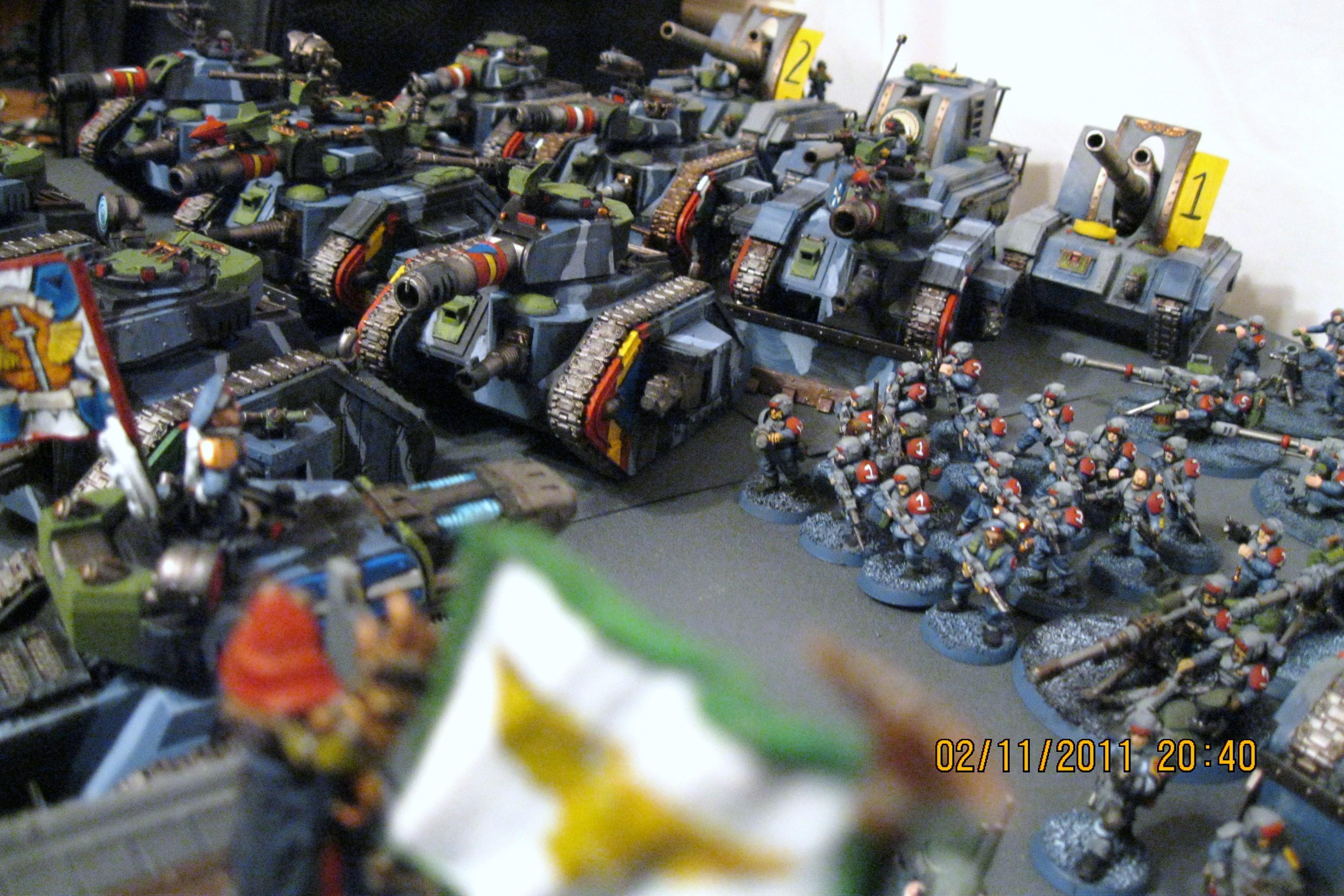 Apocalypse, Basilsks, Cadians, Imperial Guard, Infantry, Leman Russ, Tank, Warhammer 40,000