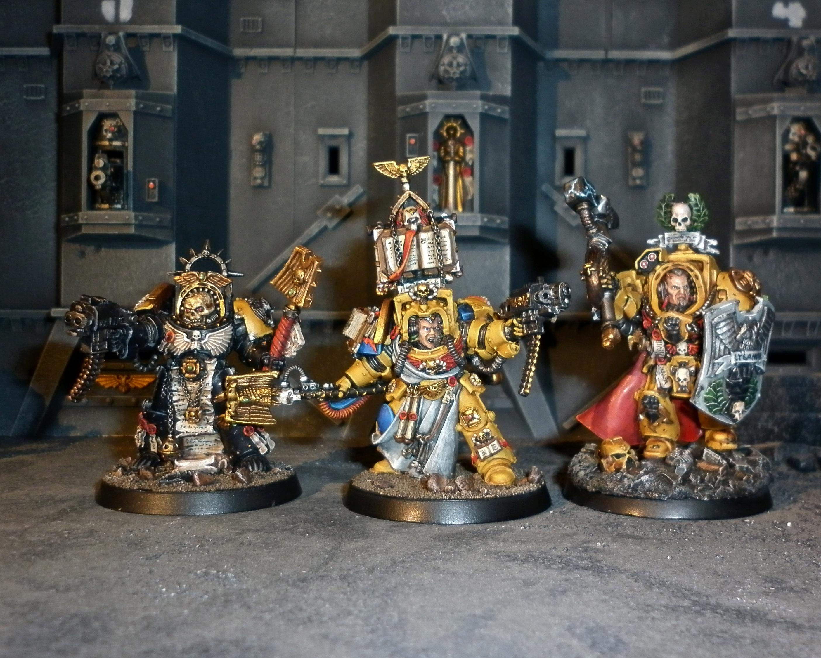 Command Squad, Hero, Imperial Fists, Space Marines, Veteran