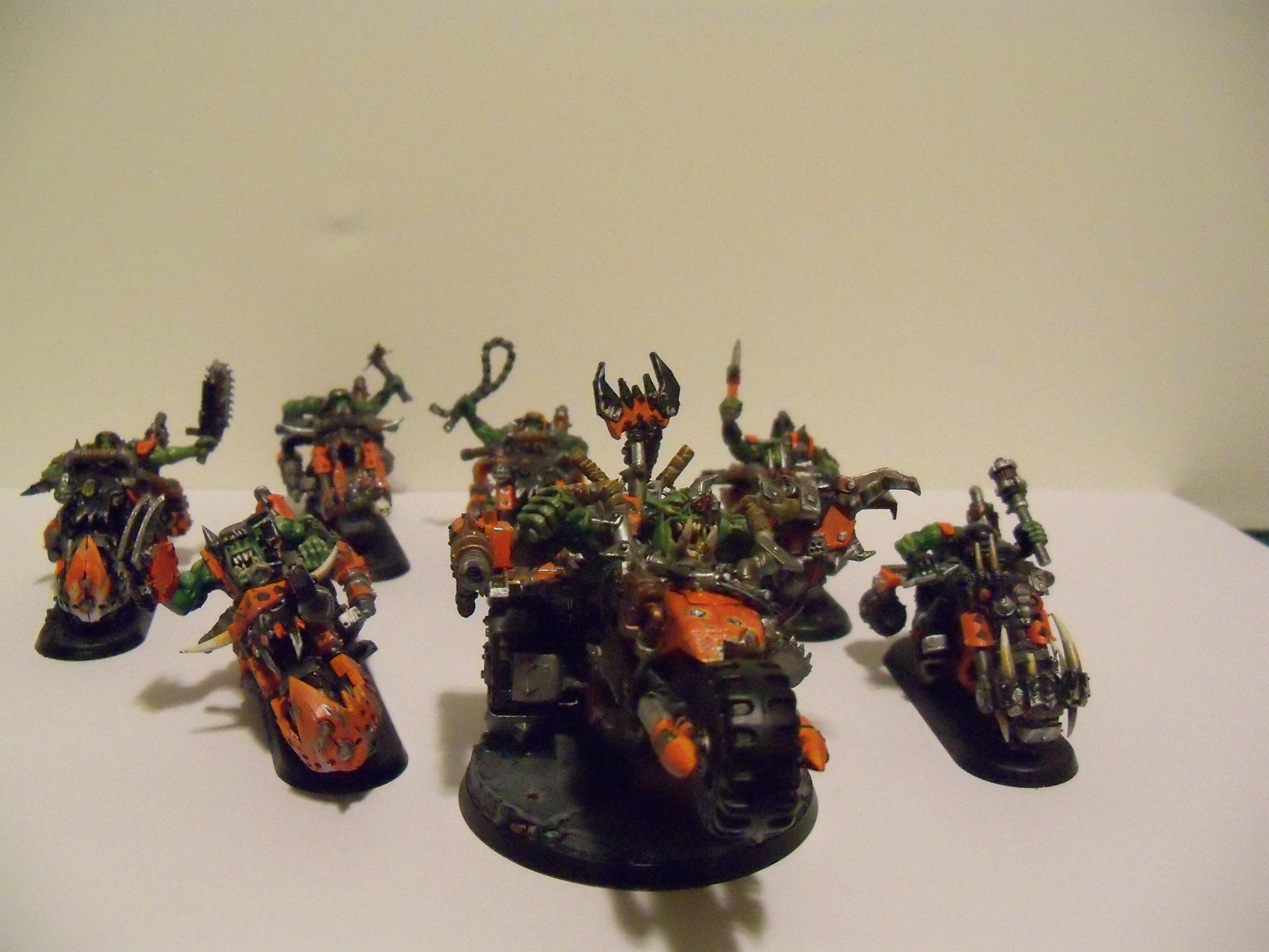 Bike, Orange, Orks